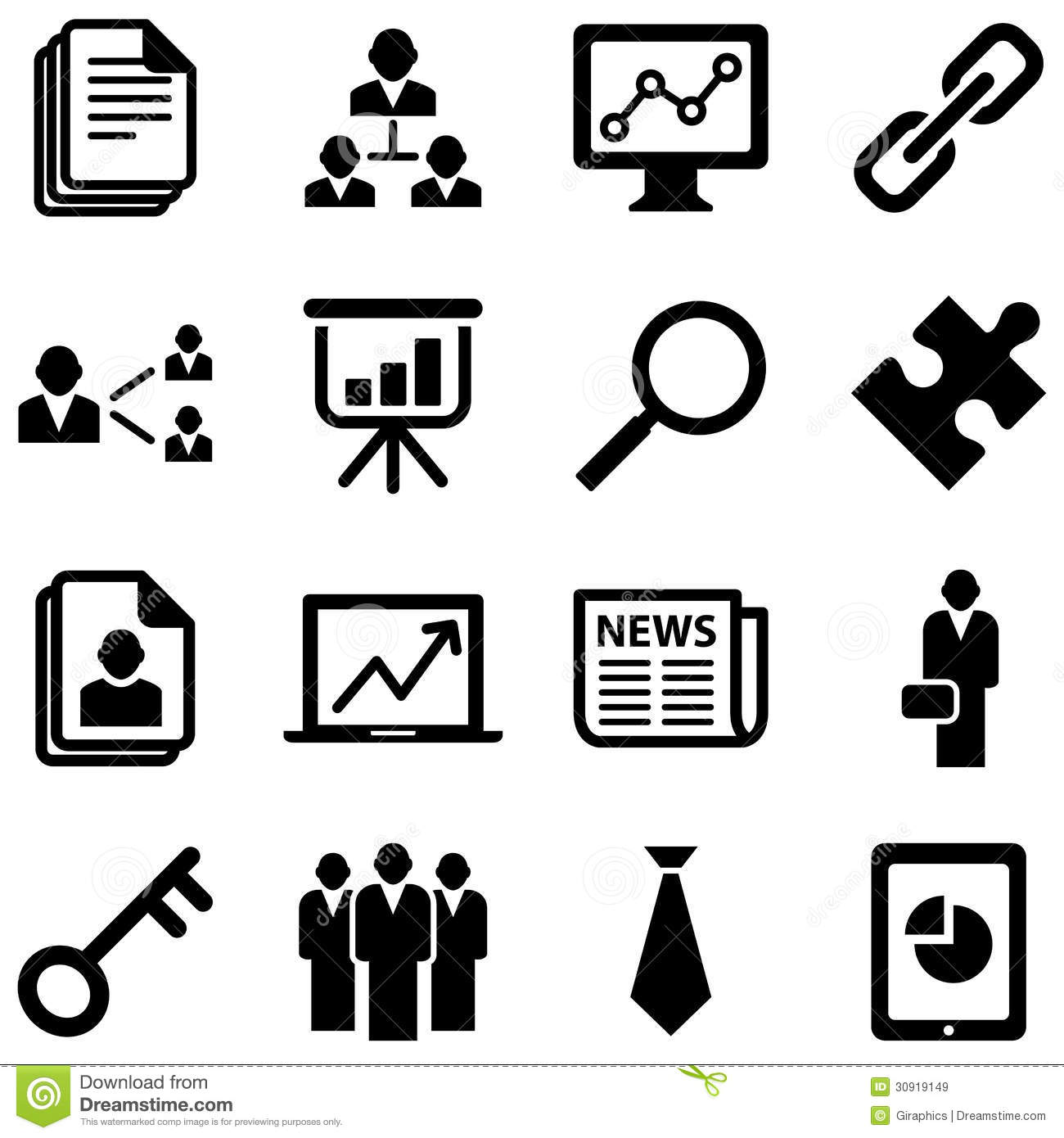 Business Icons Stock Vector Illustration Of Glass Corner