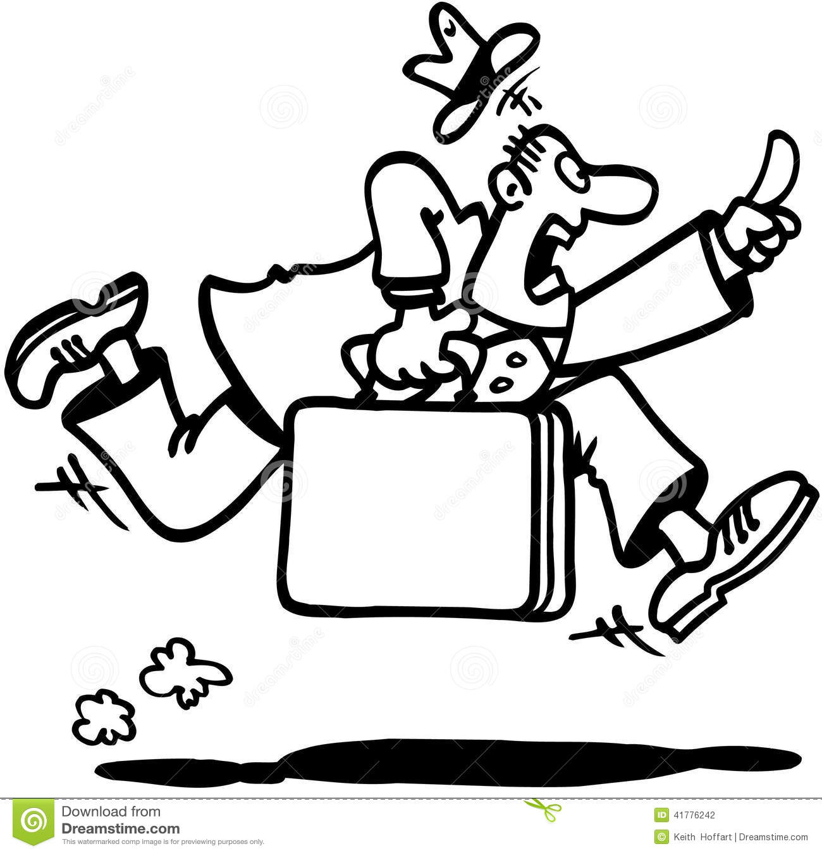 Business Man Running Cartoon Design Vector Clipart Stock Vector