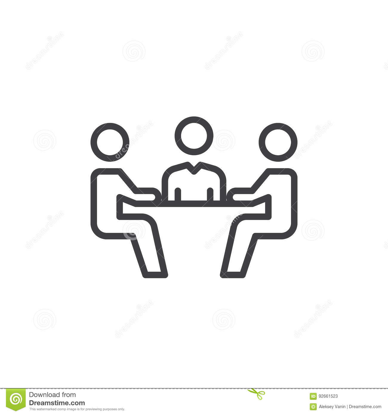 Business Meeting Line Icon Outline Vector Sign Linear