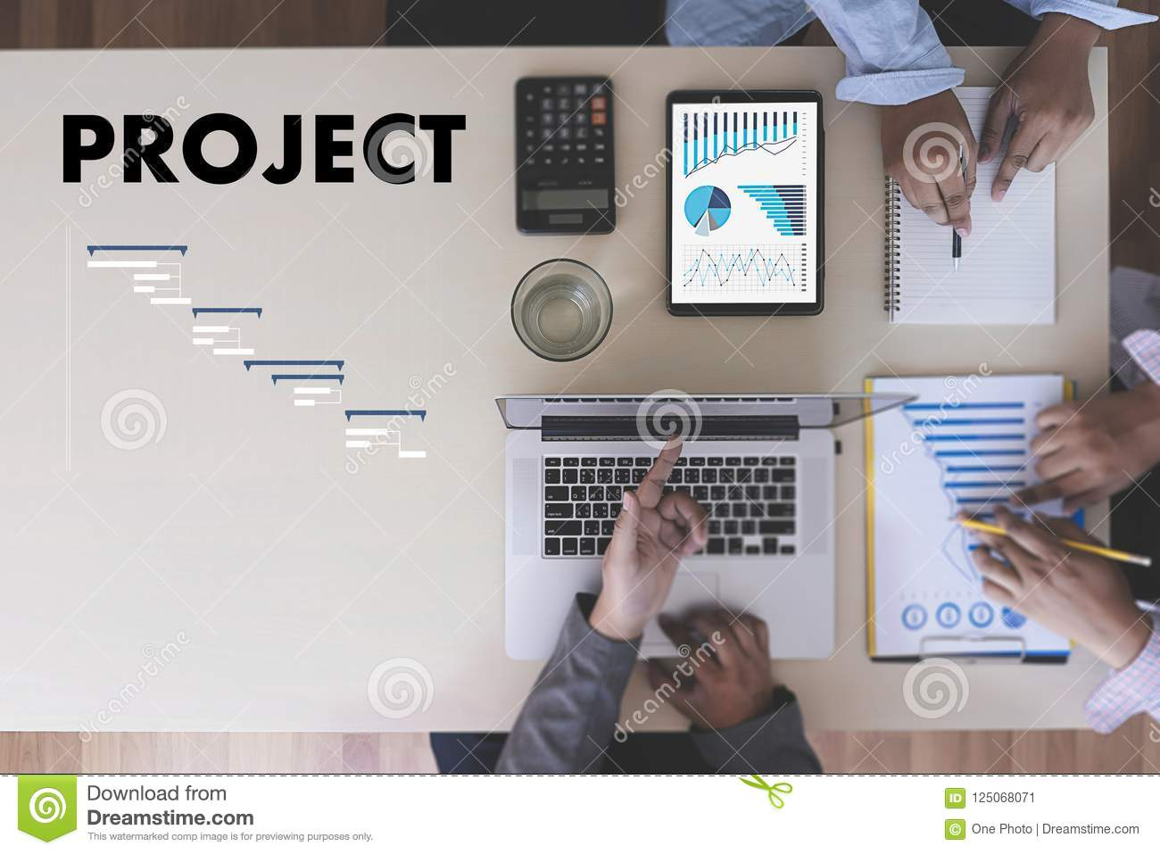 Business People Analyzing PROJECT MANAGEMENT Updating Gantt Cha     Download Business People Analyzing PROJECT MANAGEMENT Updating Gantt Cha  Stock Image   Image of notebook