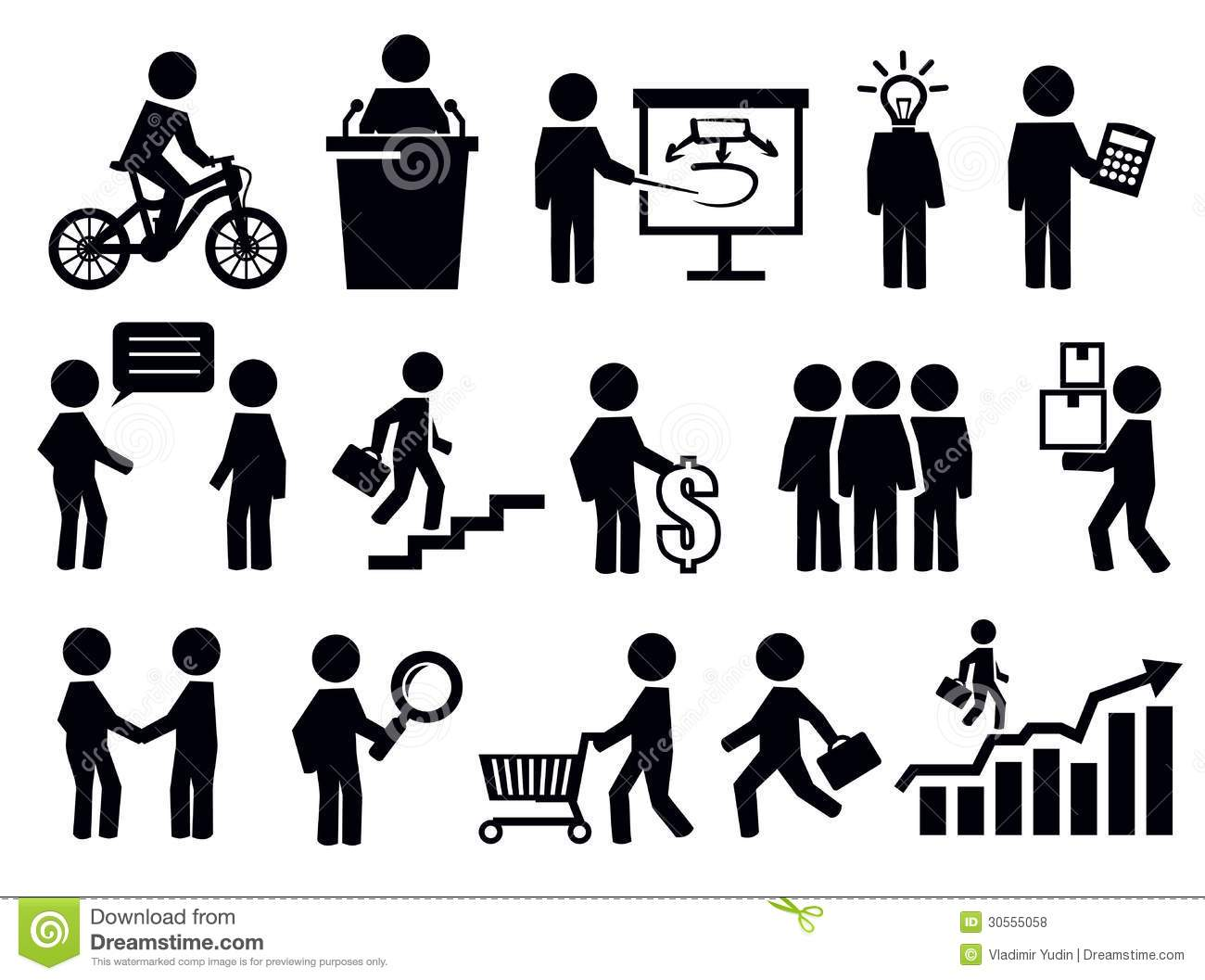 Business People Icons Stock Vector Illustration Of