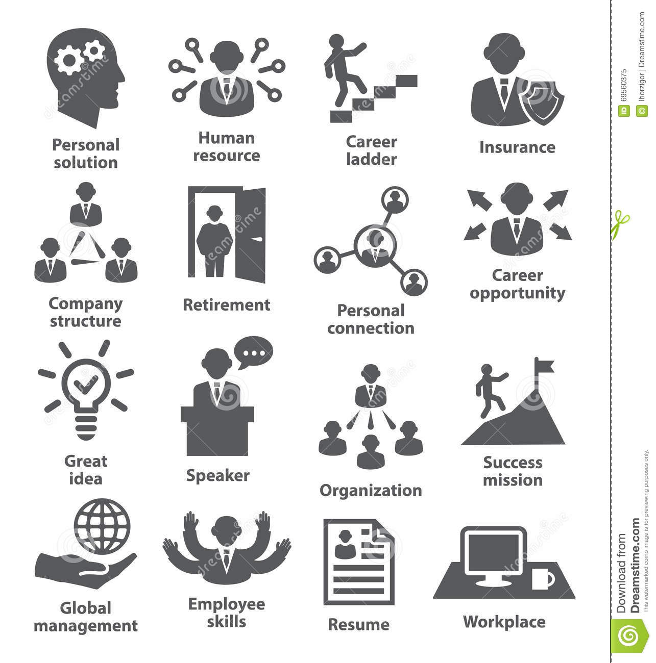 People Management Business Concept For Presentations On