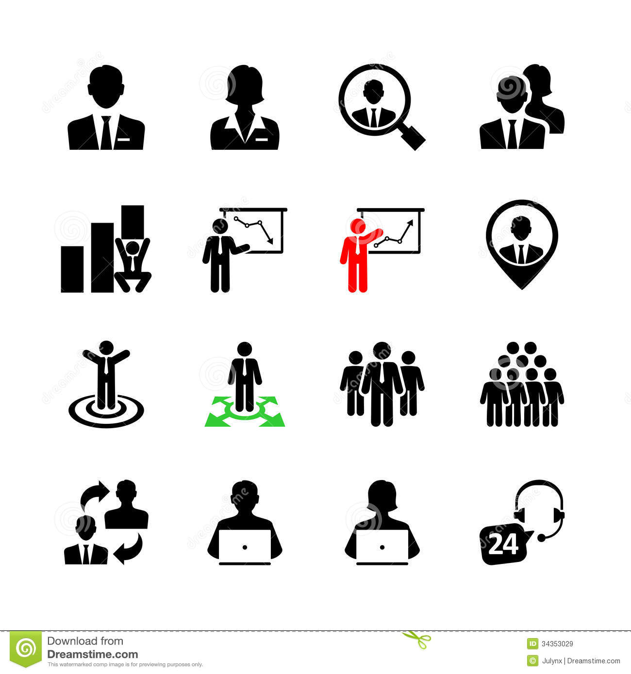 Business Web Icon Set Stock Vector Illustration Of