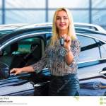 Business Woman Driver Holding Auto Keys In Front Of Car Stock Image Image Of Dealer Driver 107132745