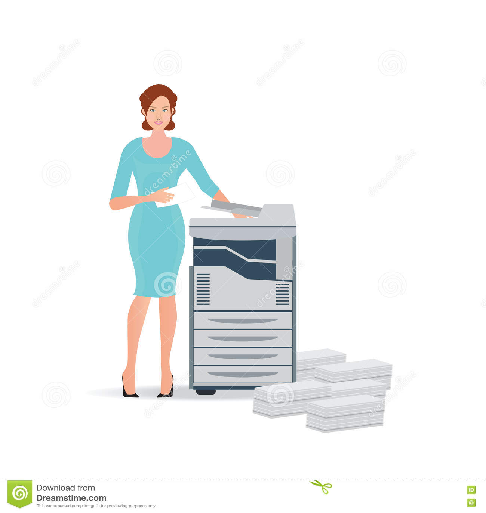 Fax Clip Printer Machine Art