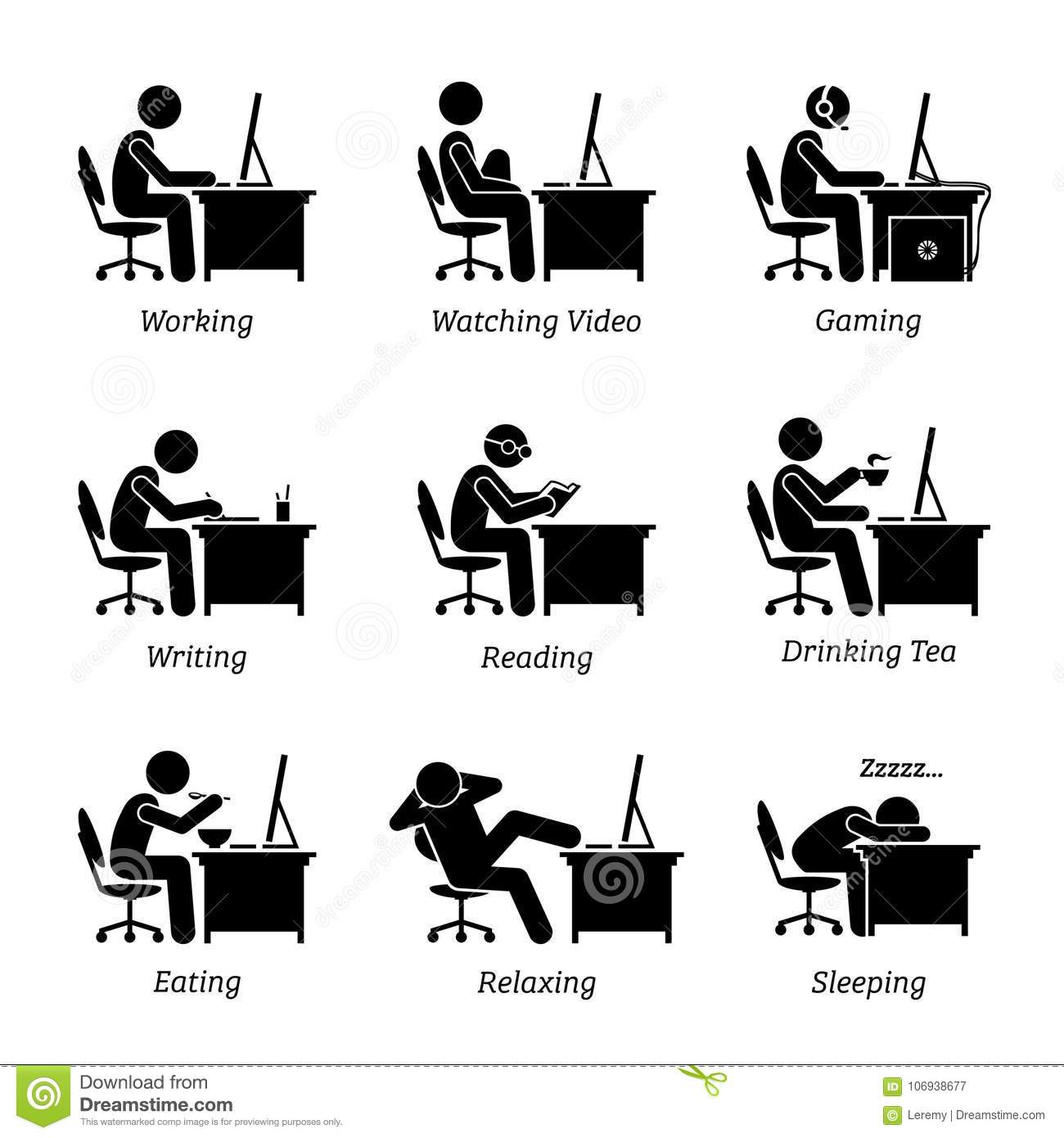 Executive Working In Front Of A Computer At Office