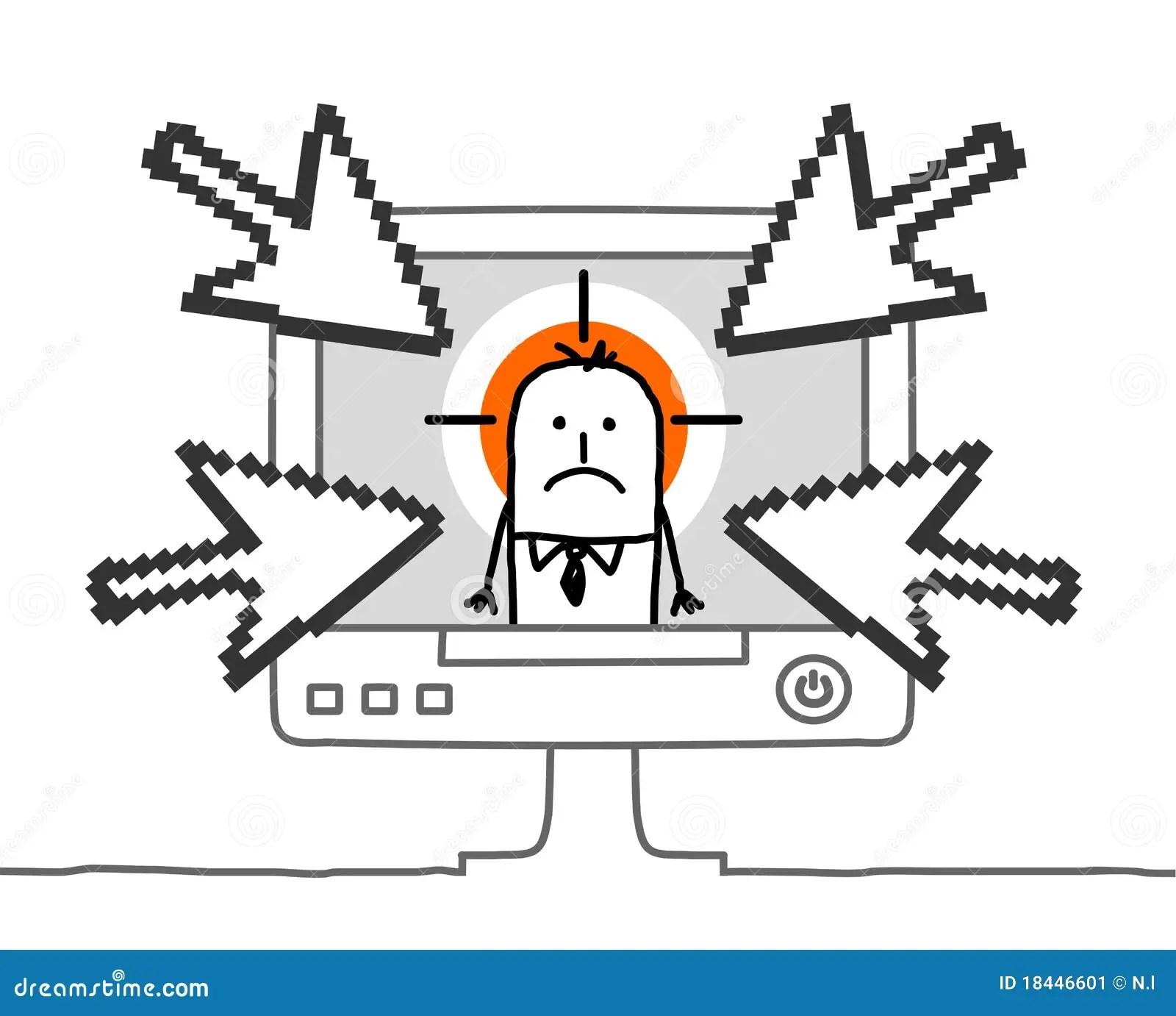 Businessman Amp Cyberbullying Stock Image