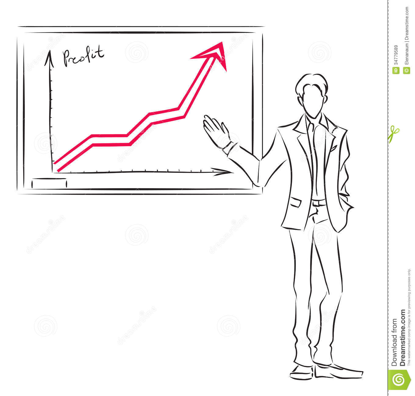 Businessman And Diagram Stock Vector Illustration Of