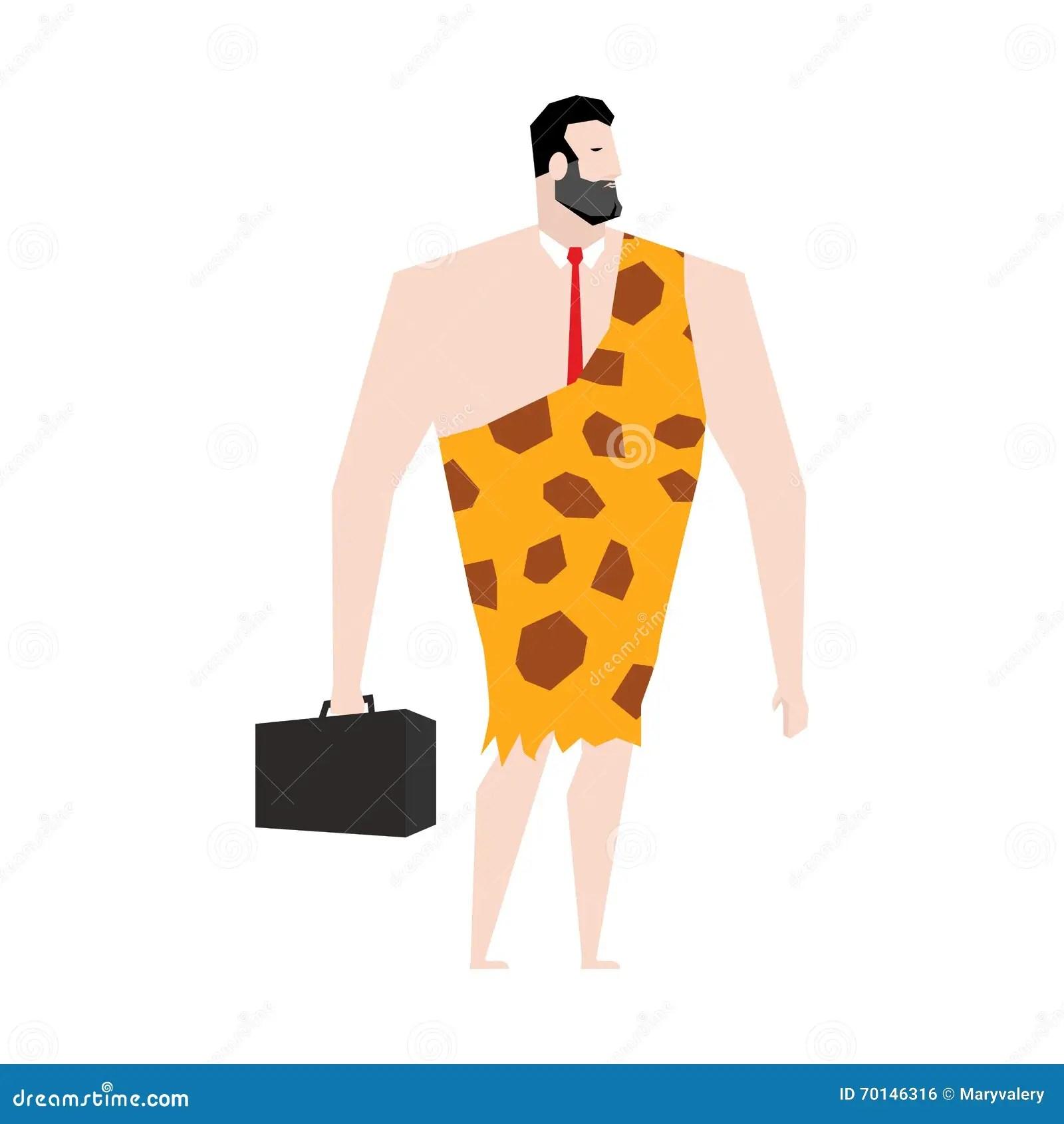 Businessman Prehistoric Ancient Boss In Skin Of Giraffe