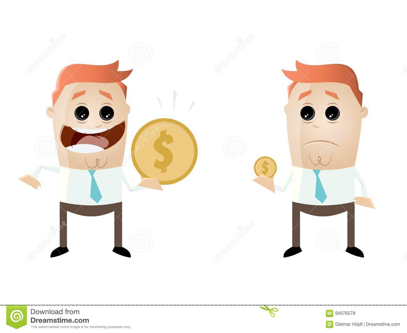 Comparing Cartoons Illustrations Amp Vector Stock Images