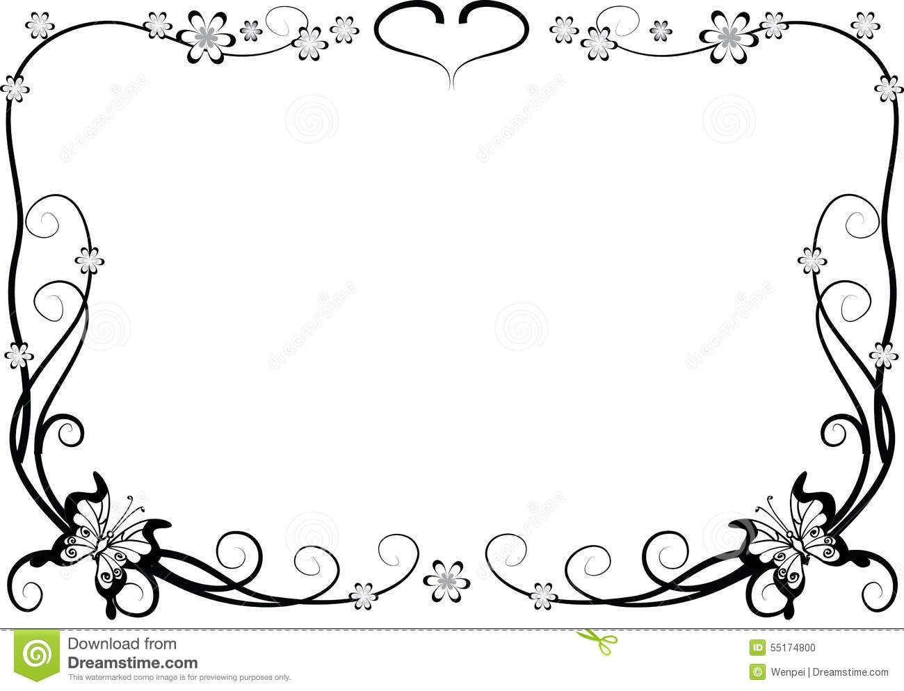 Butterfly With Frame Stock Illustration Illustration Of Border