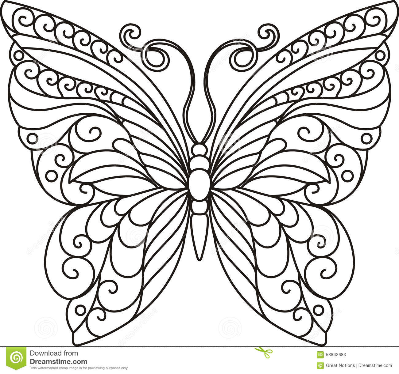Stock Photos Butterfly Outline Image