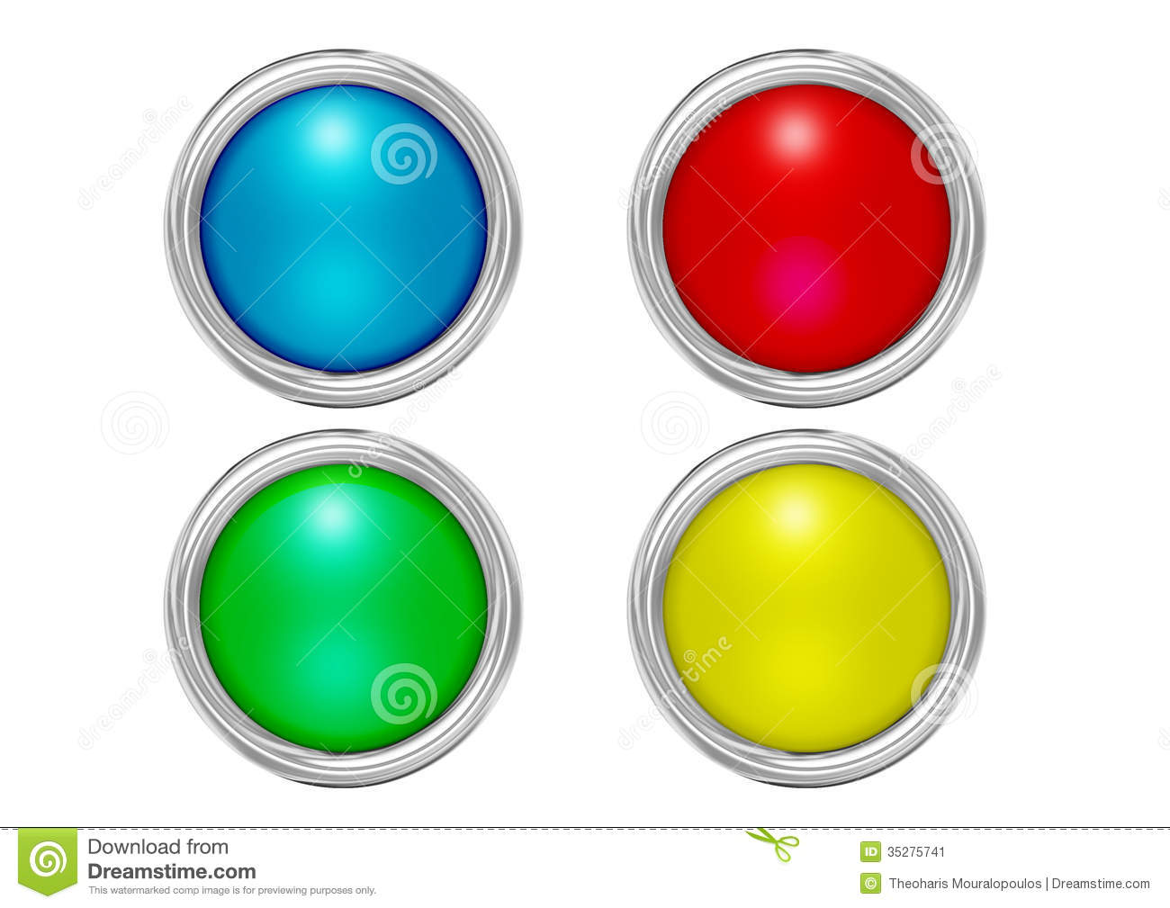 Buttons Mat Colors Stock Illustration Illustration Of