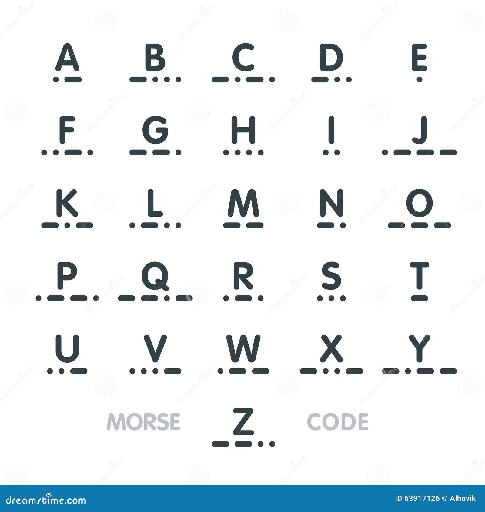 Codigo Morse Alfabeto Ilustracion Del Vector Ilustracion
