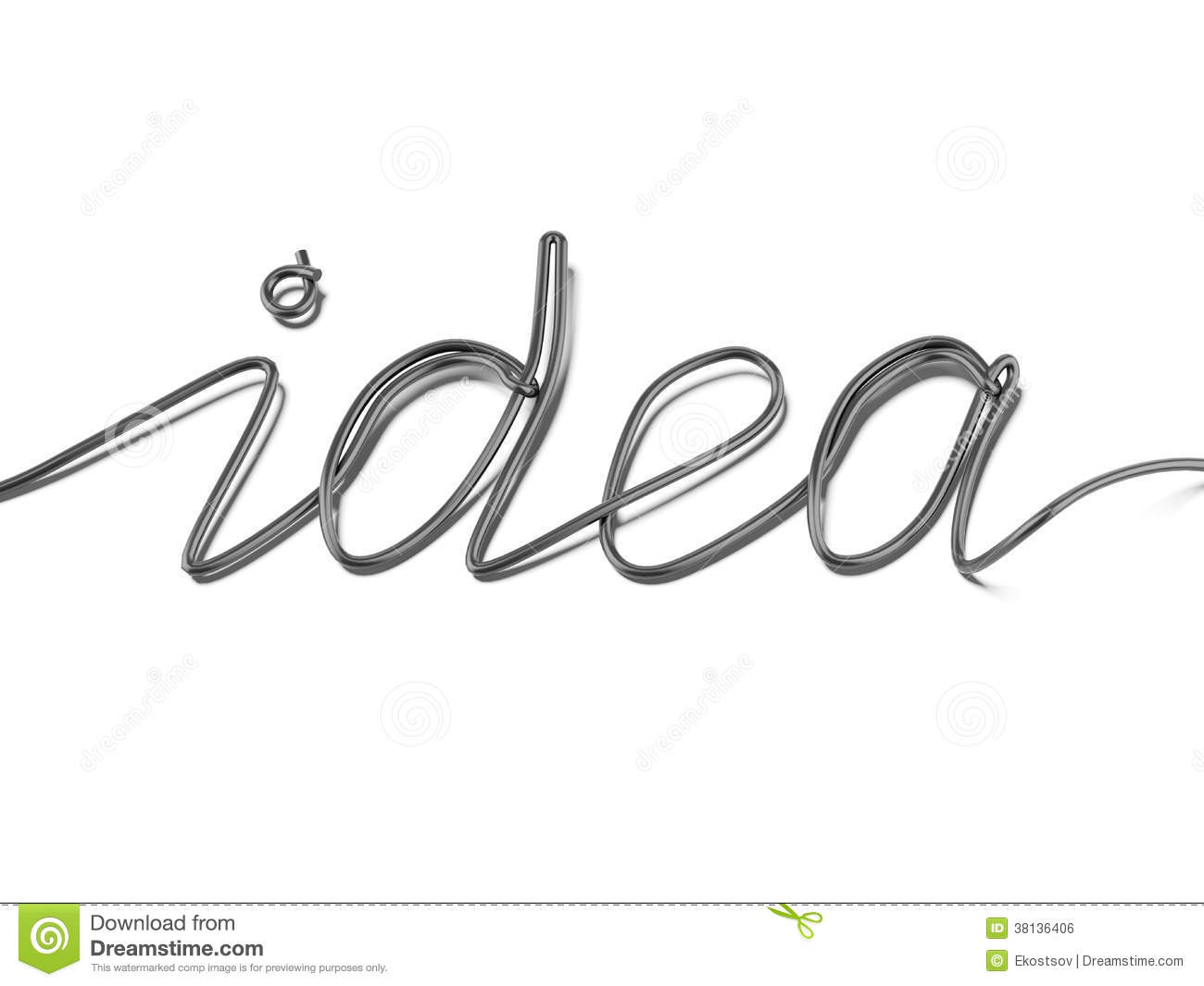 Lightbulb 3d And Design Word Creative Stock Photography