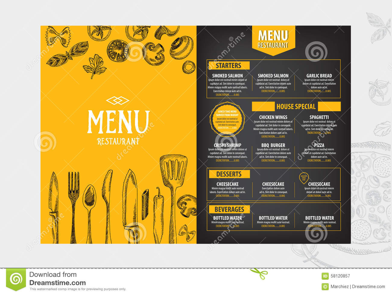 Doc770477 Free Cafe Menu Templates for Word Free Restaurant – Free Cafe Menu Templates for Word