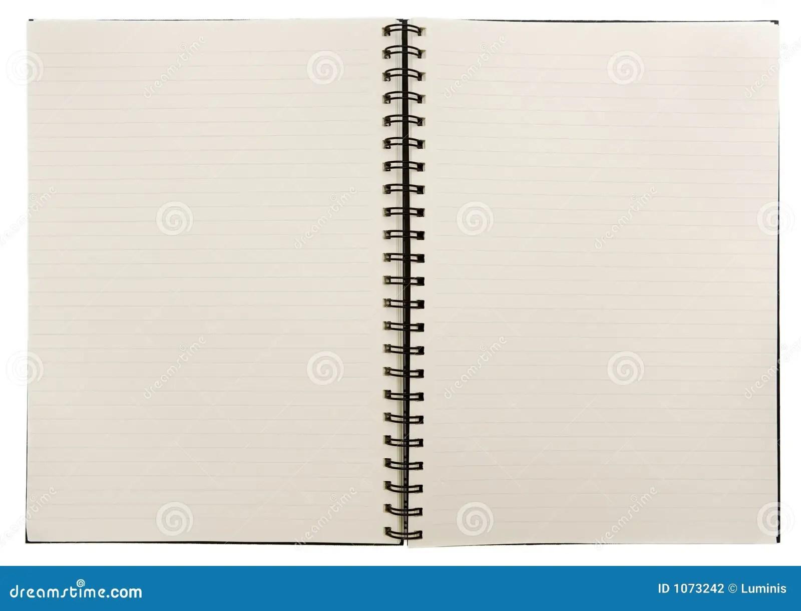 Cahier Blanc Photo Stock Image Du Organisez Vide