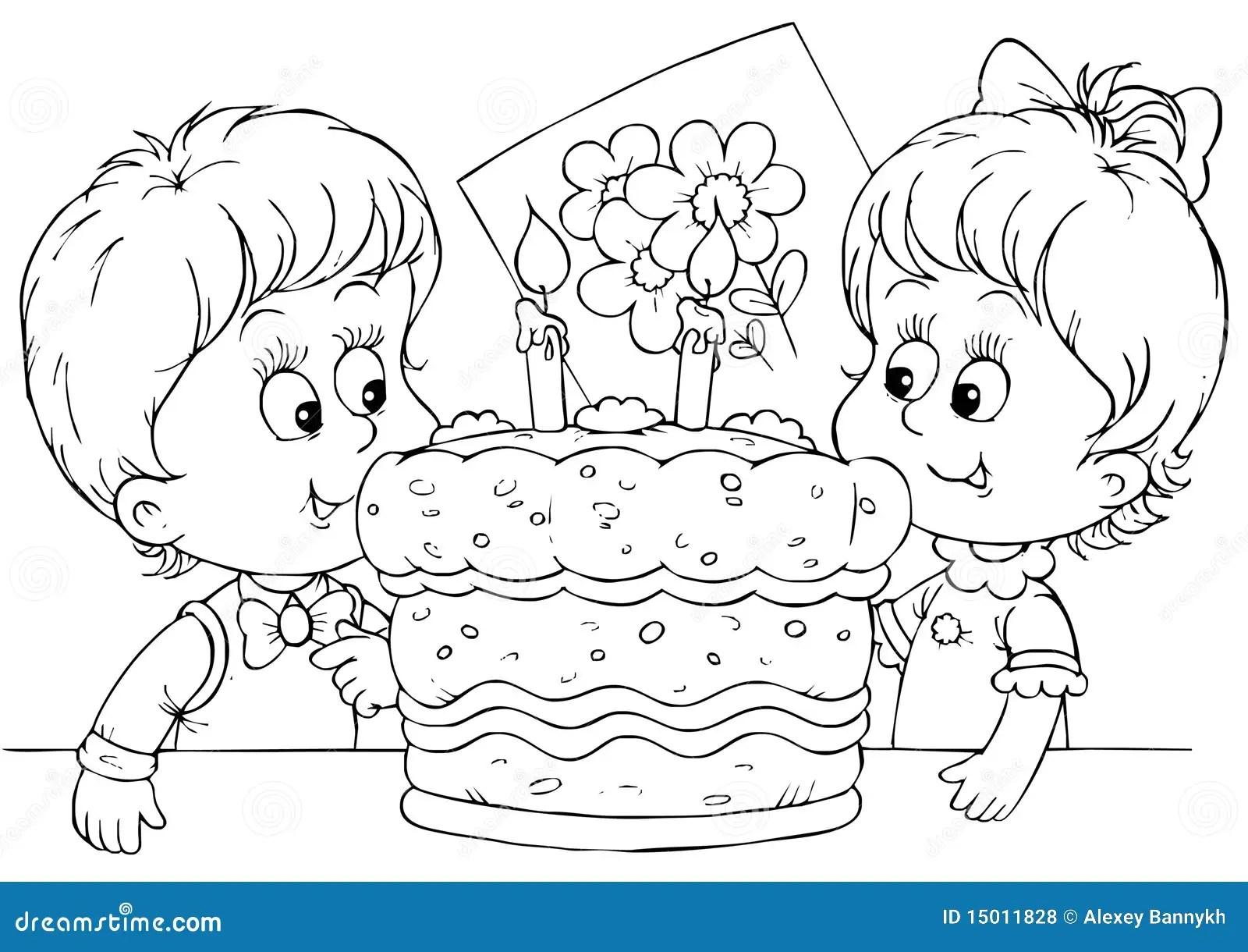 Cake For A Birthday Stock Illustration Illustration Of
