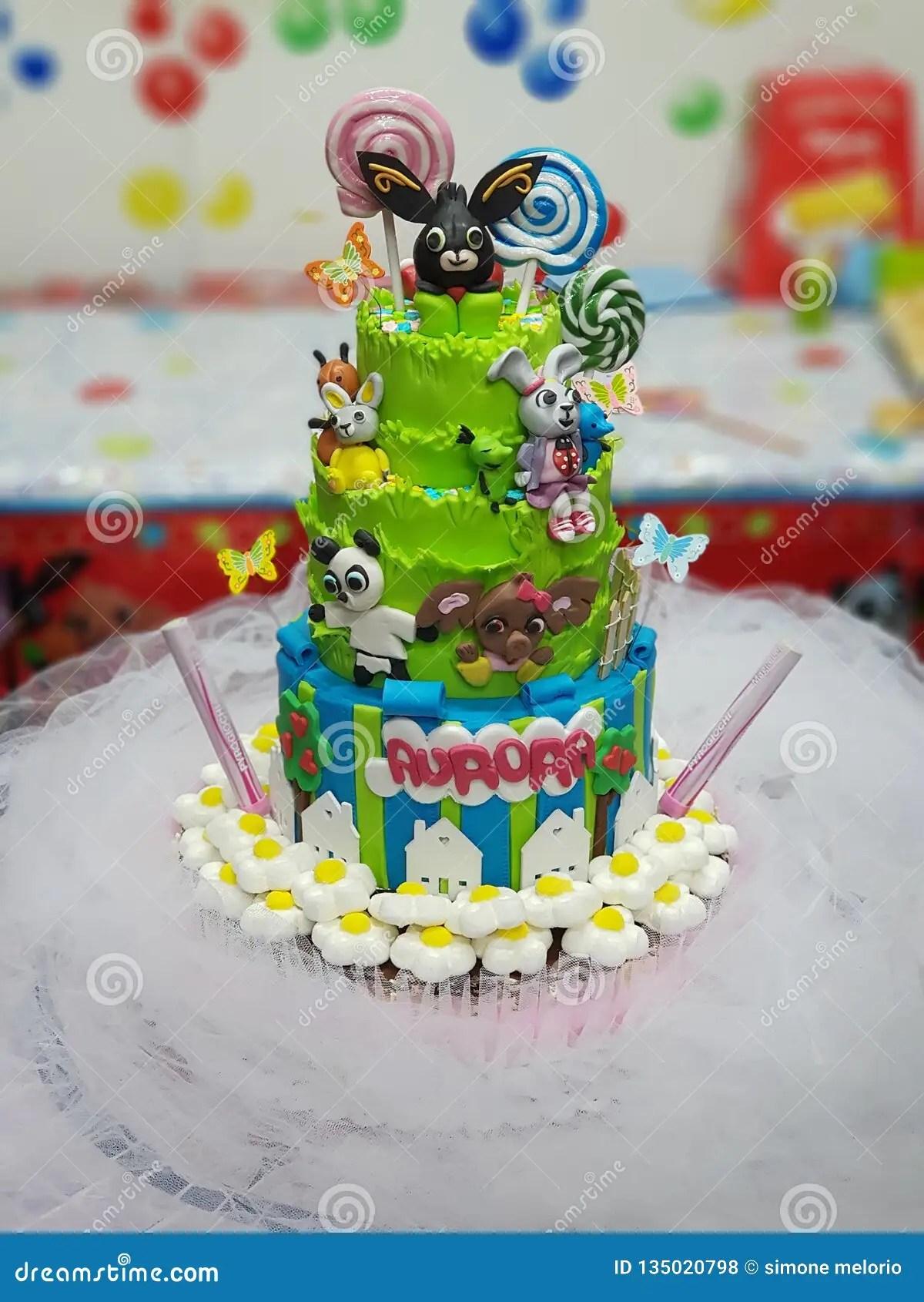 Cake For Birthday Stock Photo Image Of Birthday Kids 135020798