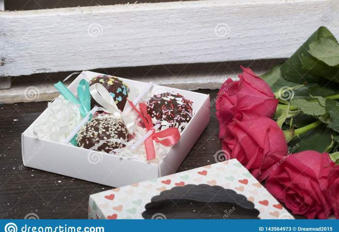 Cake Pops Are Beautifully Packed In A Gift Box Stock Image Image