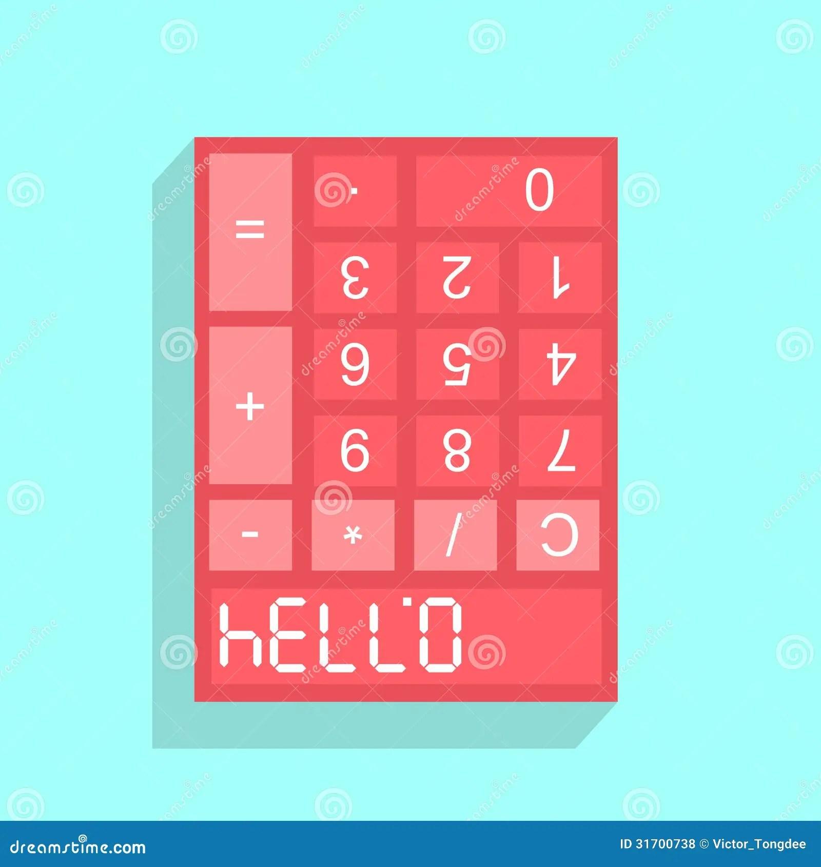 Calculator Display With Hello