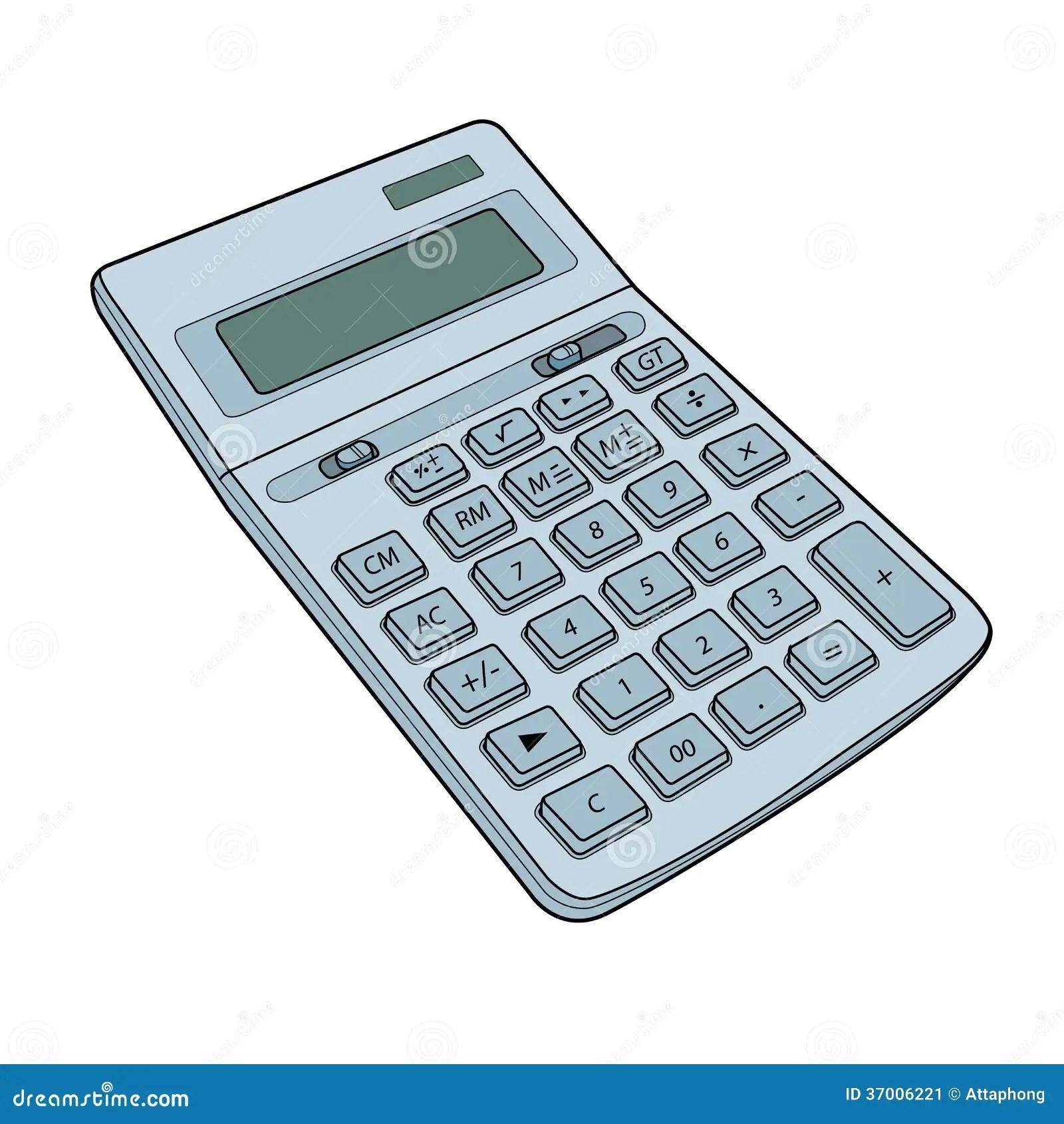 Calculator Vector Stock Vector Illustration Of Mathematics