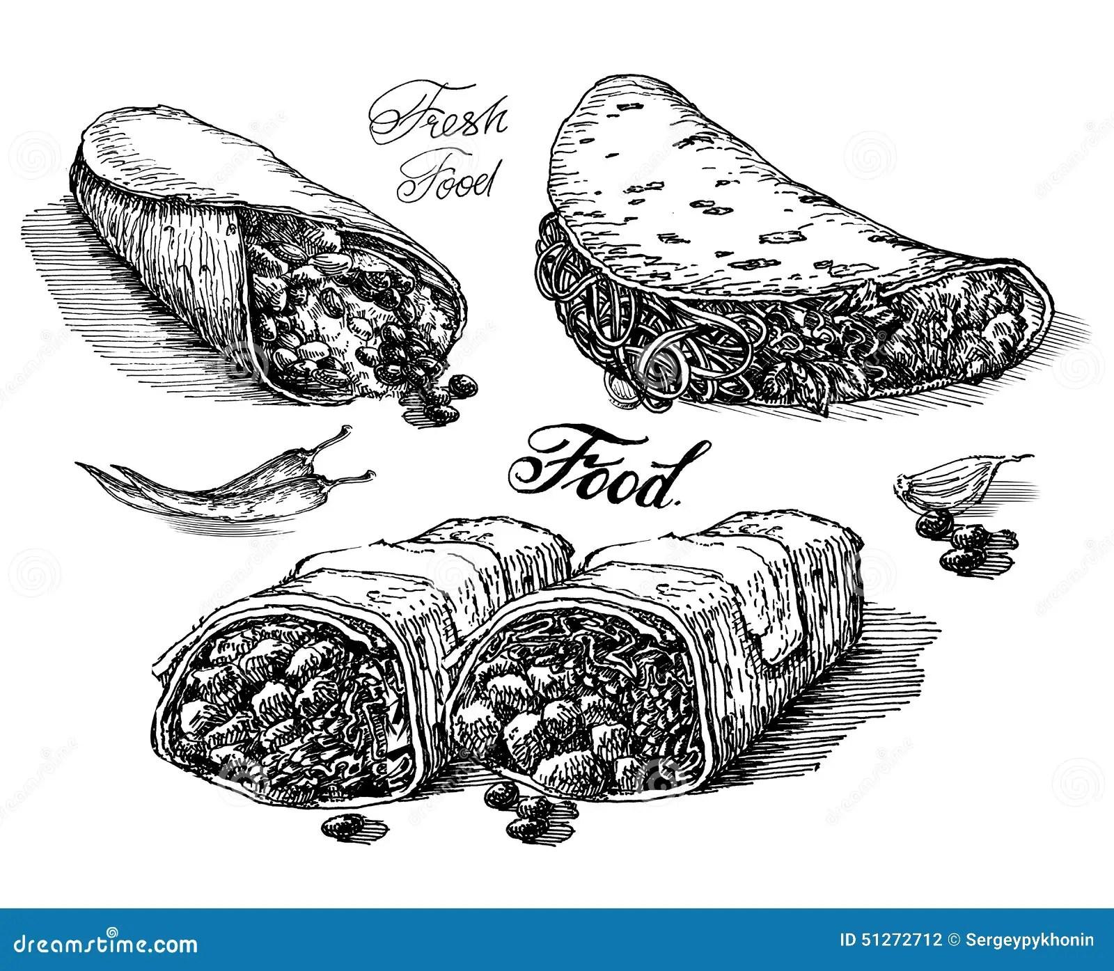 Calibre De Conception De Logo De Vecteur De Burritos
