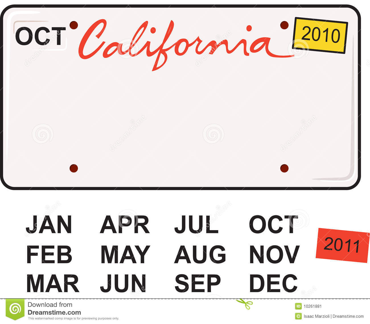 California License Plate Stock Image