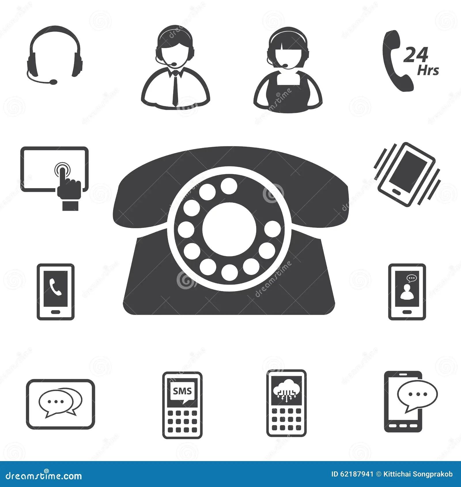 Call Center Customer Service Icon Set Stock Vector