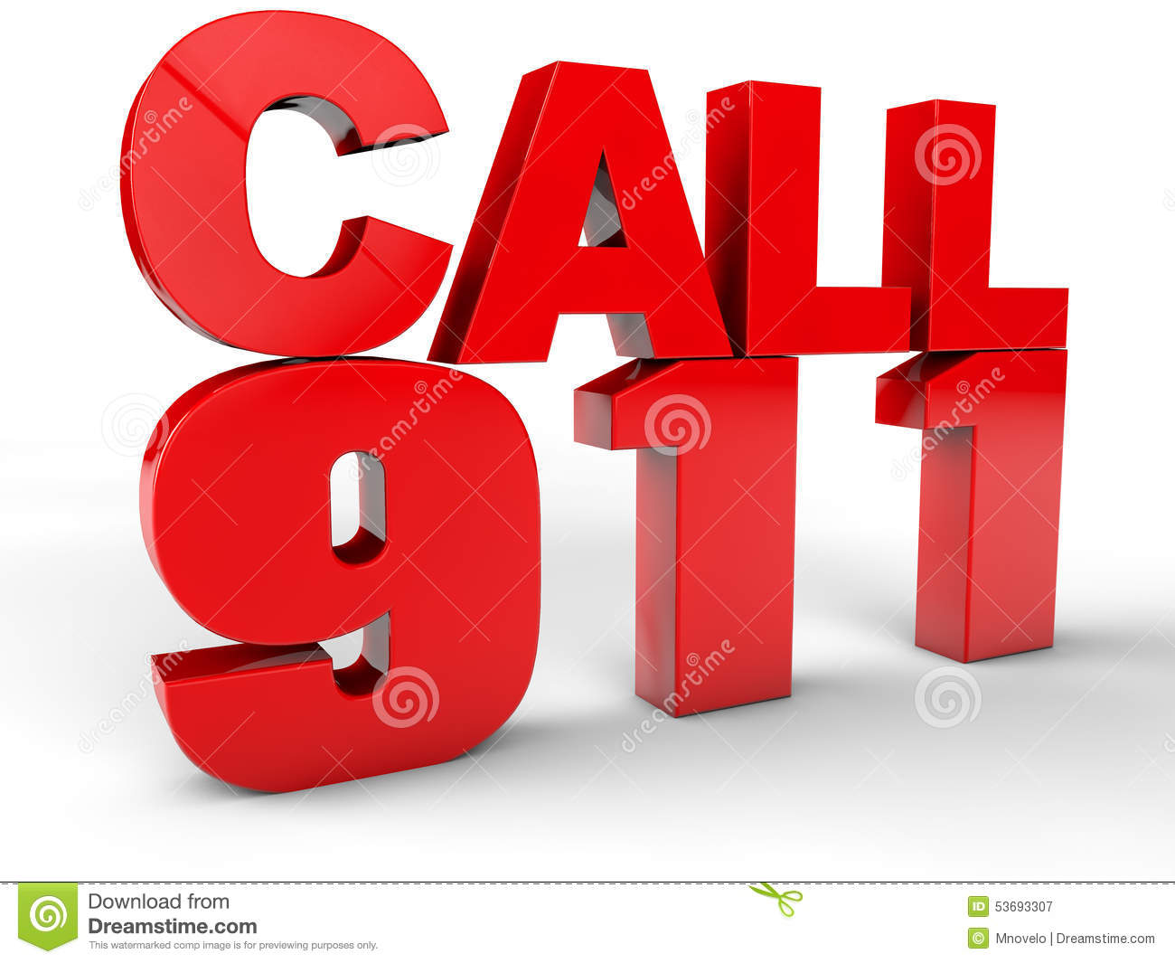 Call 911 Stock Illustration