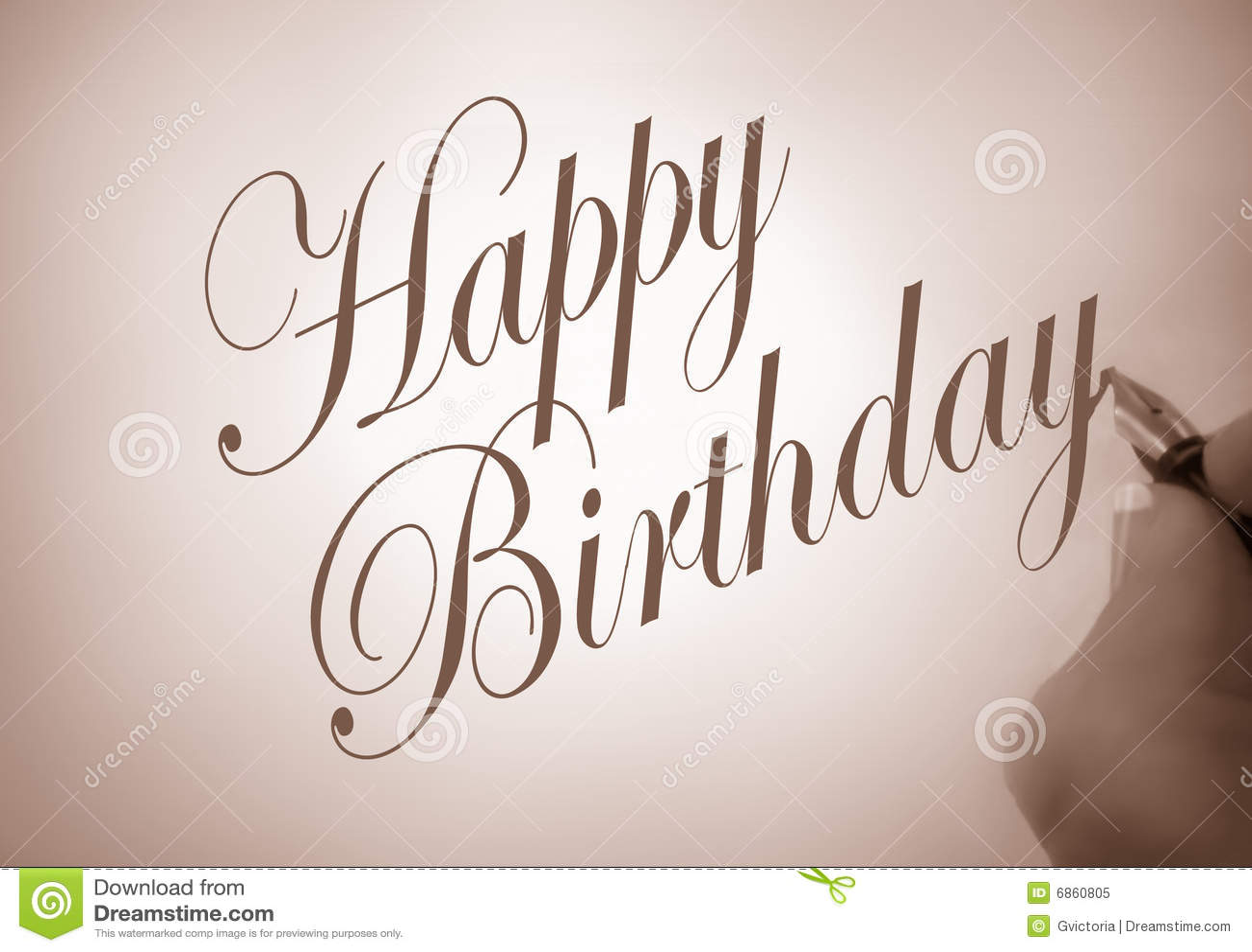 Callligraphy Happy Birthday Stock Illustration Illustration Of Appreciative Person 6860805