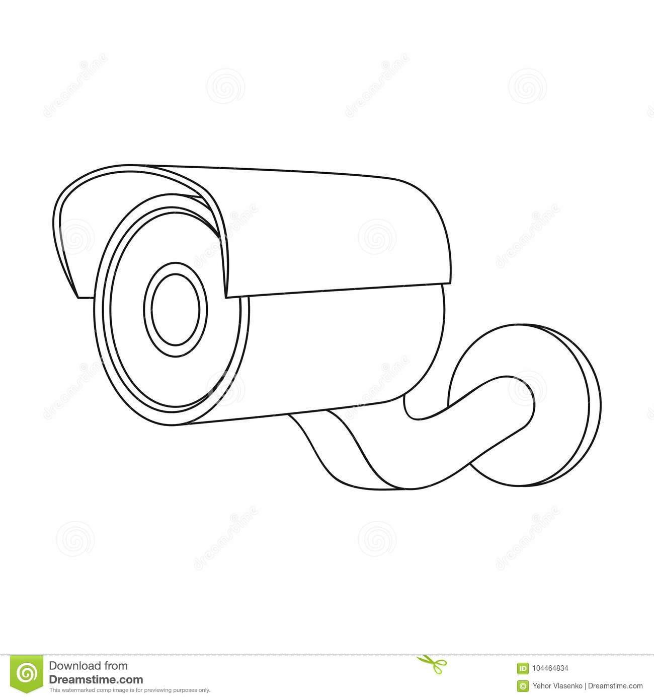 Camcorder Single Icon In Outline Stylemcorder Vector