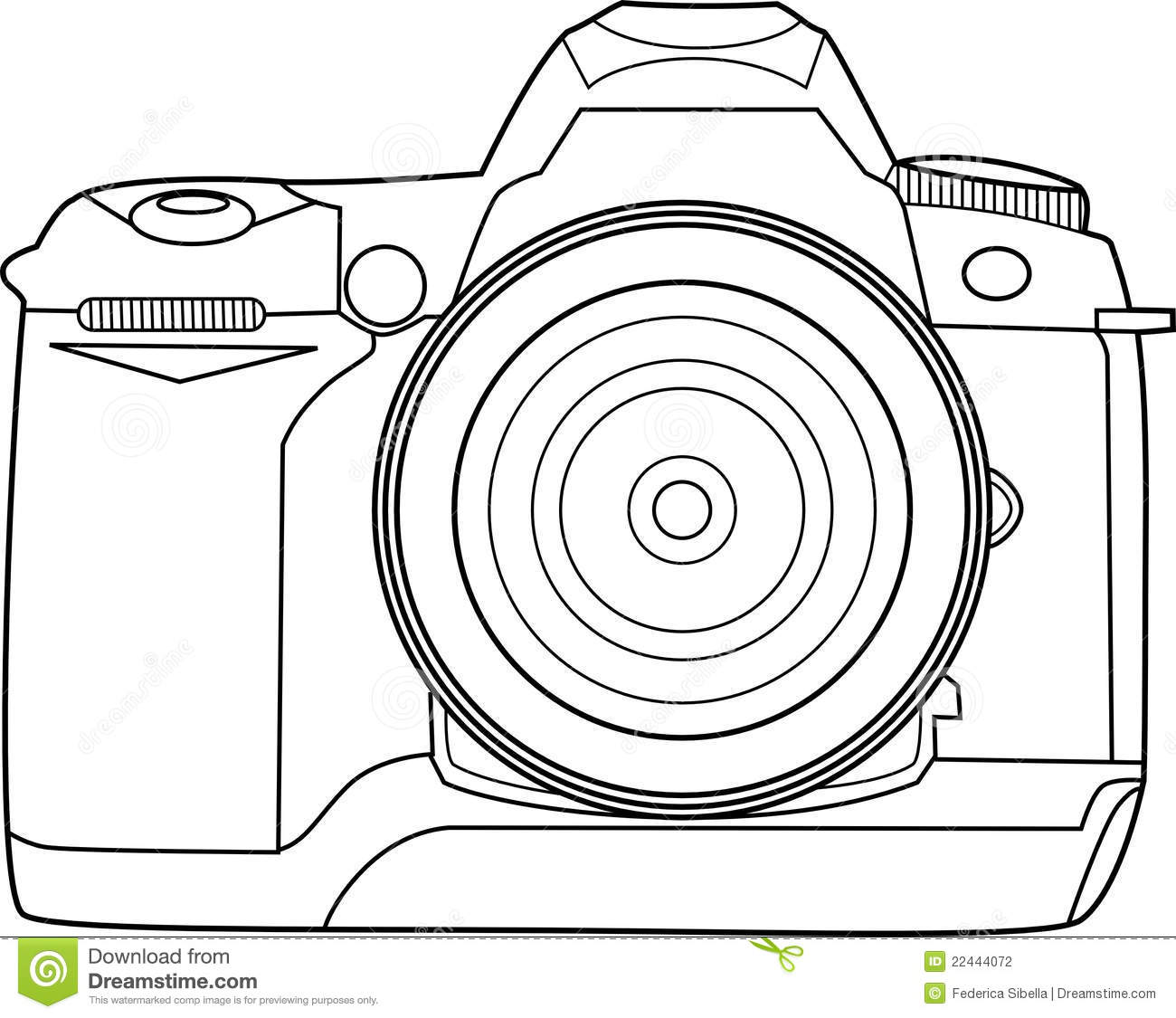 Camera Vector Outline Stock Vector Illustration Of