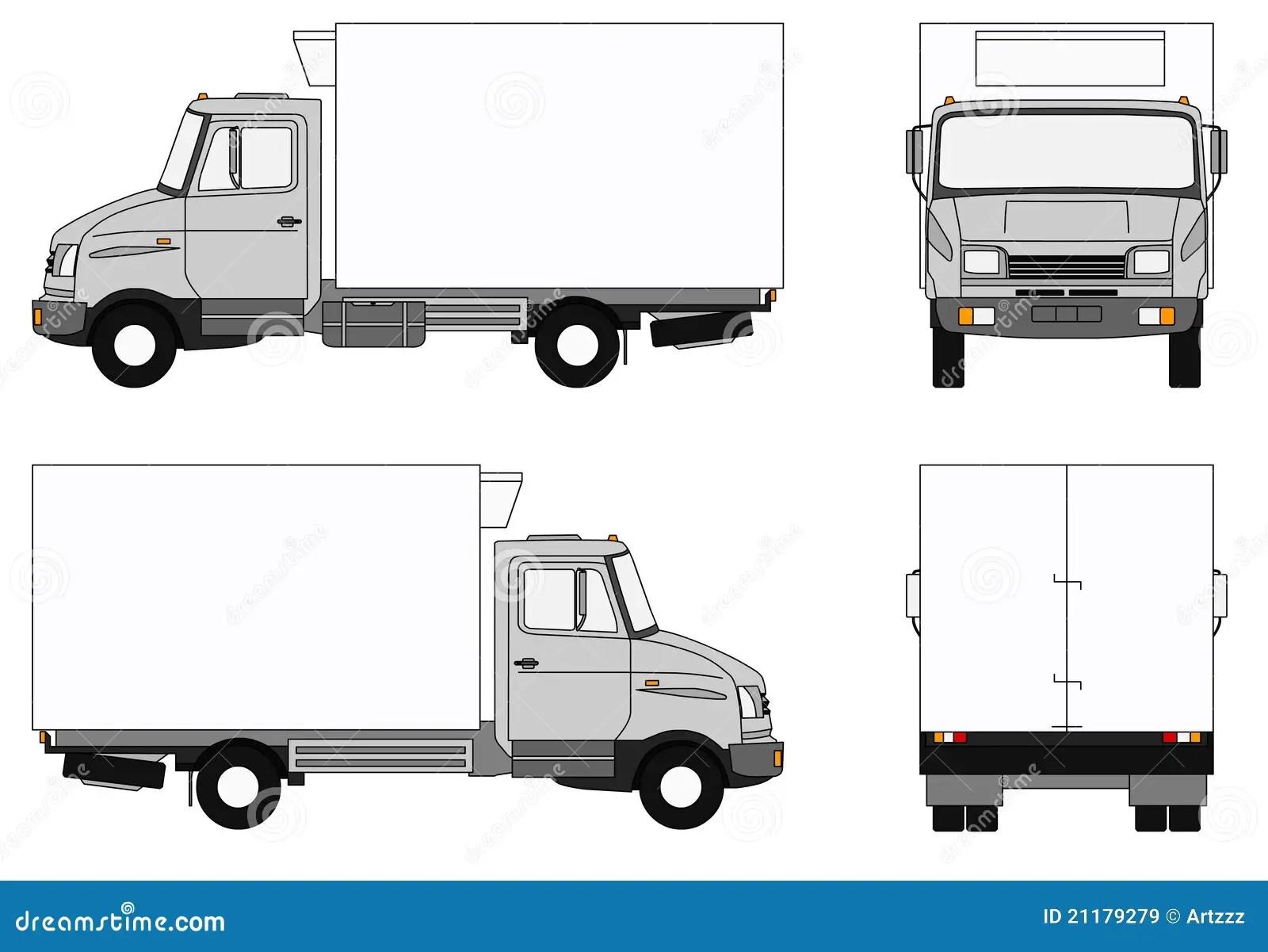 Camion Gris De Refrigerateur Illustration Stock
