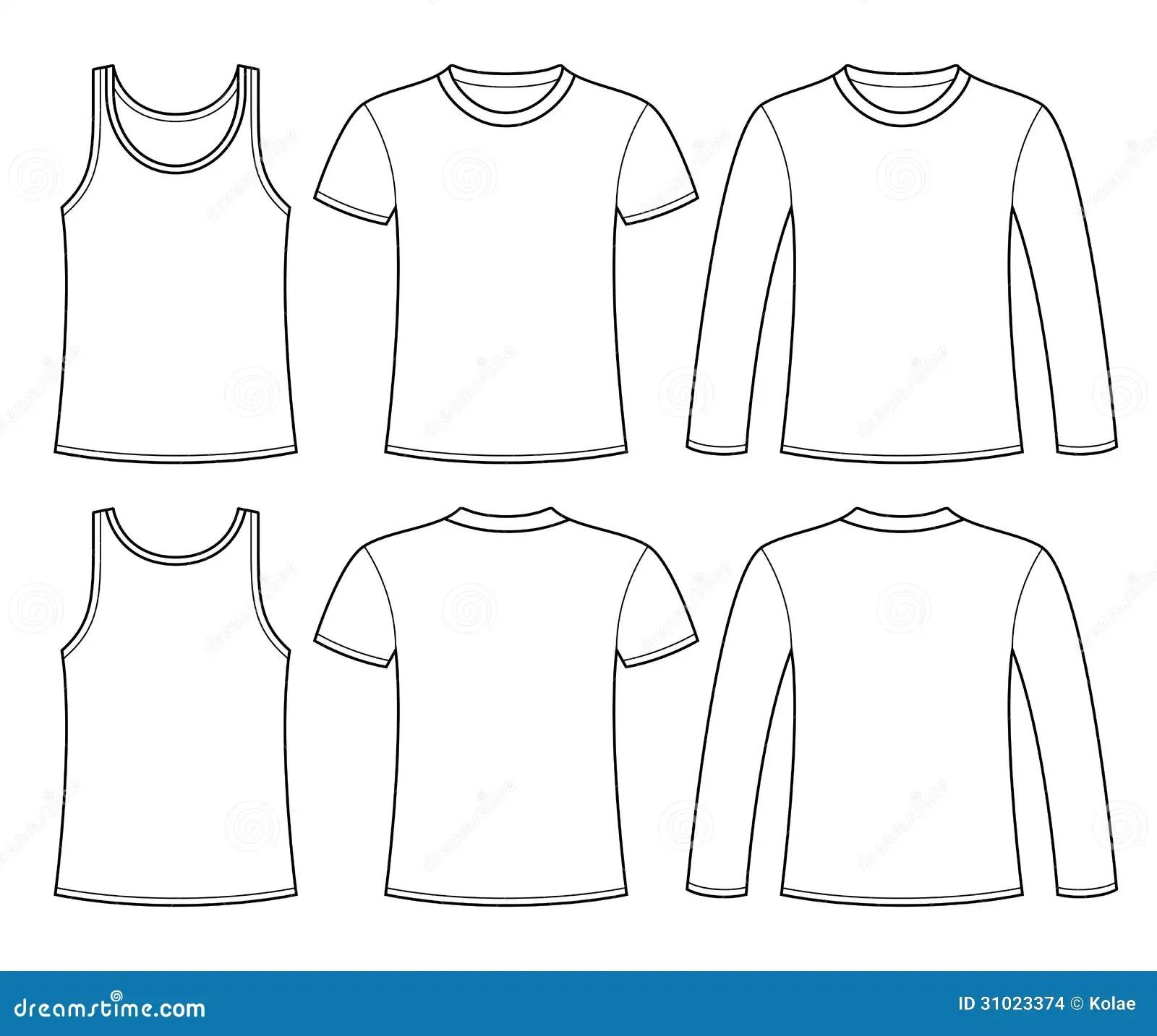 Camiseta Camiseta Y Plantilla De Manga Larga De La