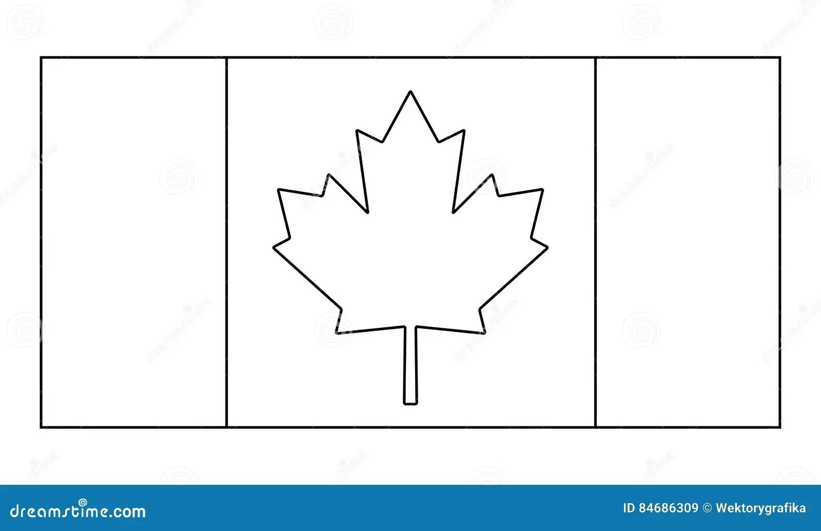 Canada Flag Outline Vector Symbol Icon Design Stock