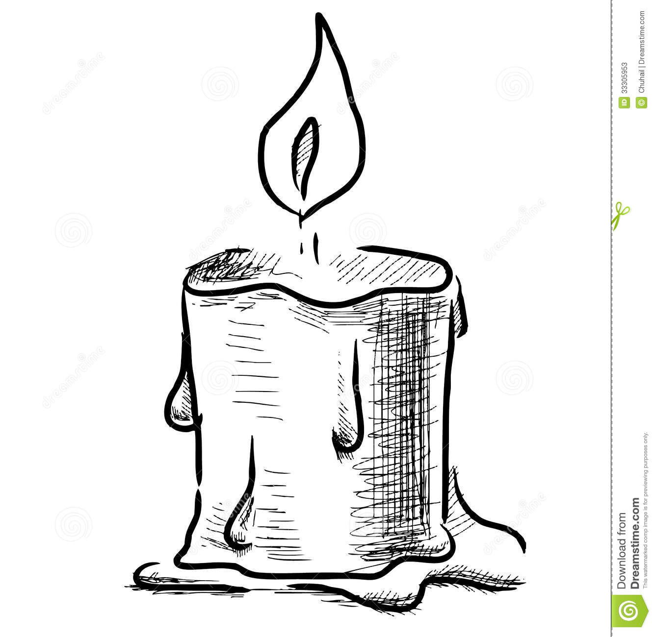 Candle With Fire Stock Photos