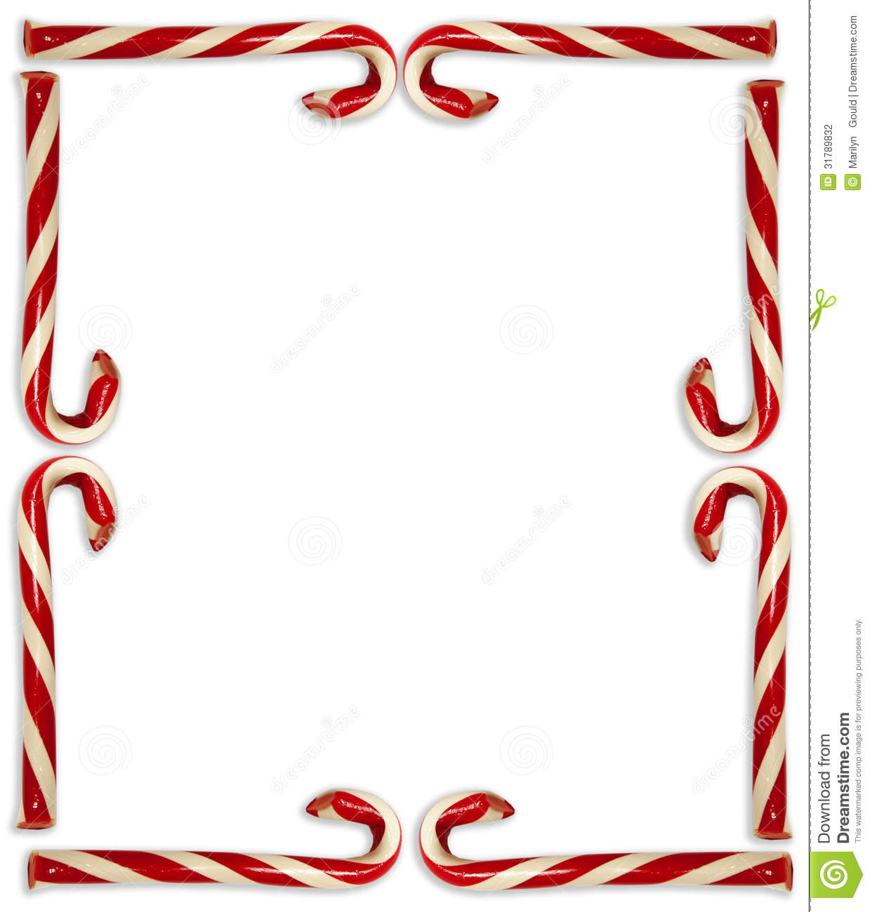 Candy Cane Border Stock Photo Image Of Frame Gould