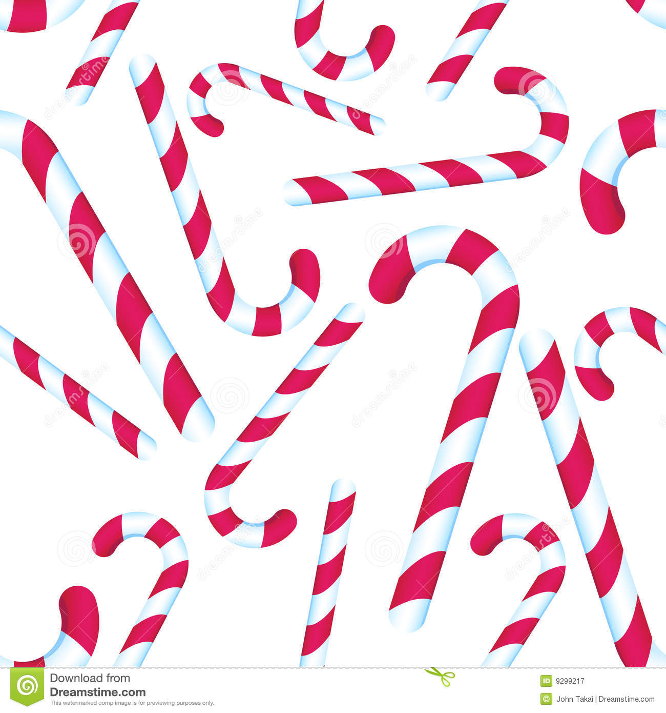 Candy Cane Repeating Pattern Stock Vector
