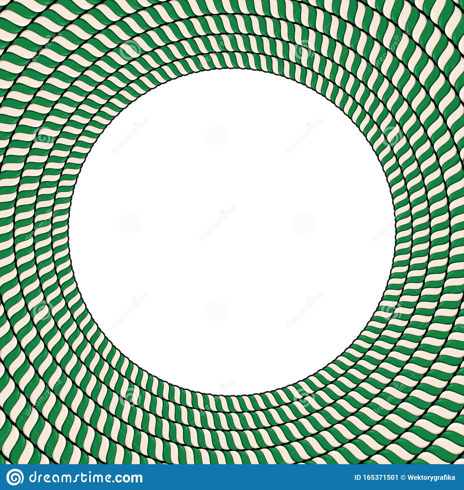 Candy Cane Twisted Circle Frame Border Circle Made Of