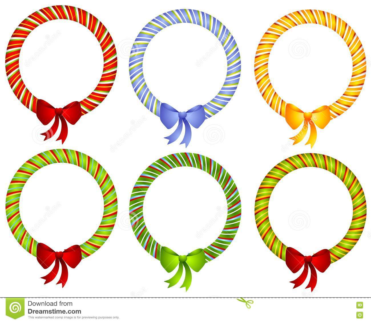 Candy Cane Wreath Bow Frames Picture Image