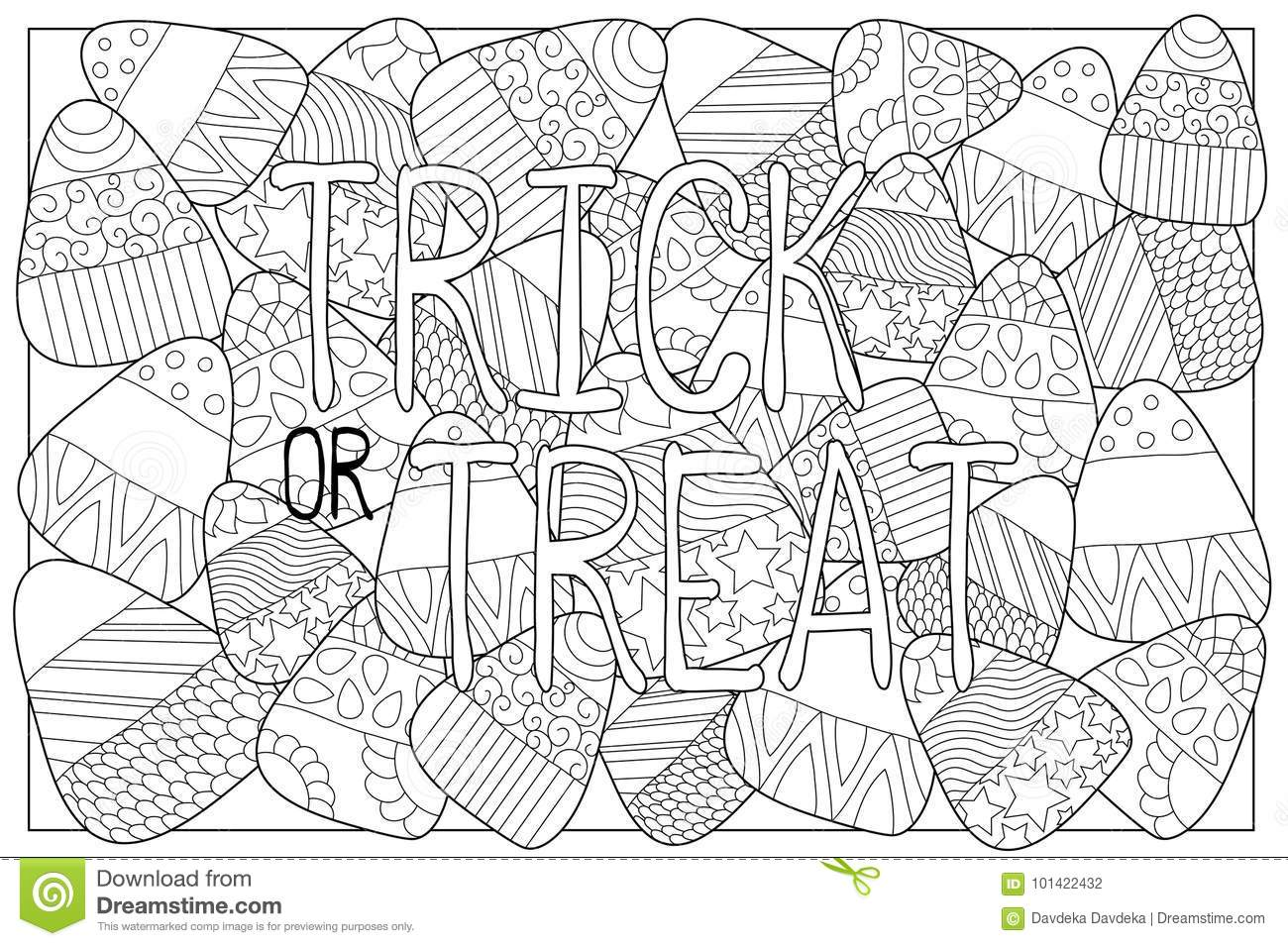 Candy Corn Sweets Coloring Page Candy Corn With Ornament