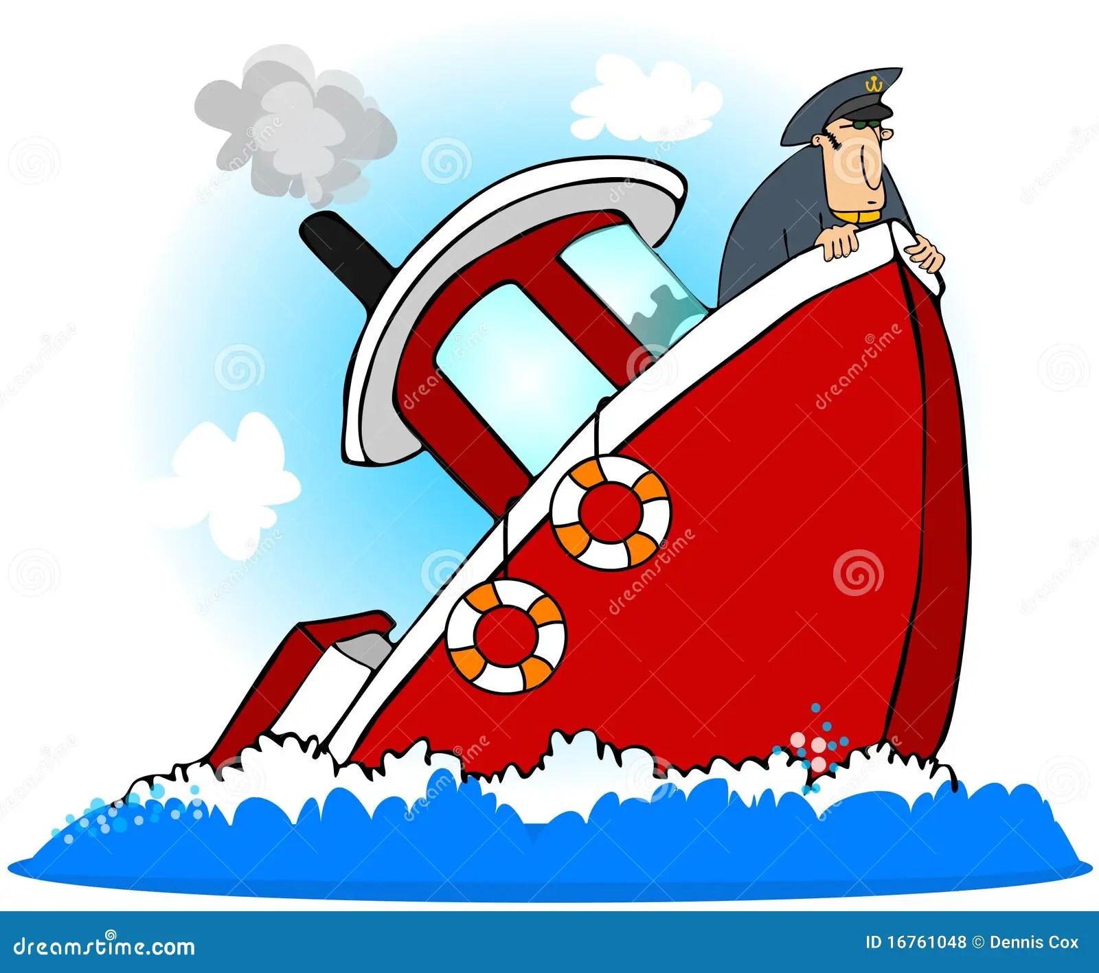Capitano Of A Sinking Ship Illustrazione Di Stock