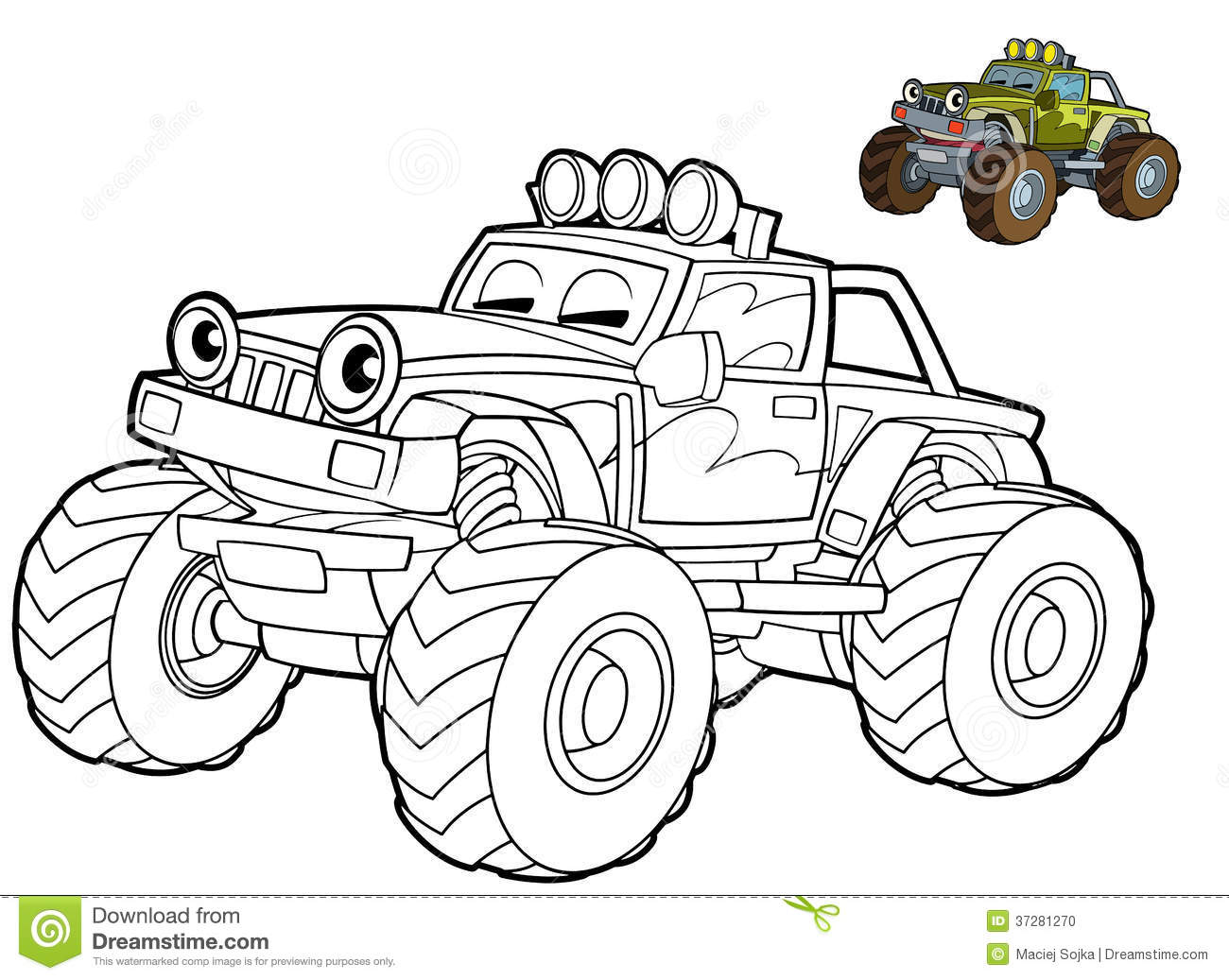 Car Coloring Page