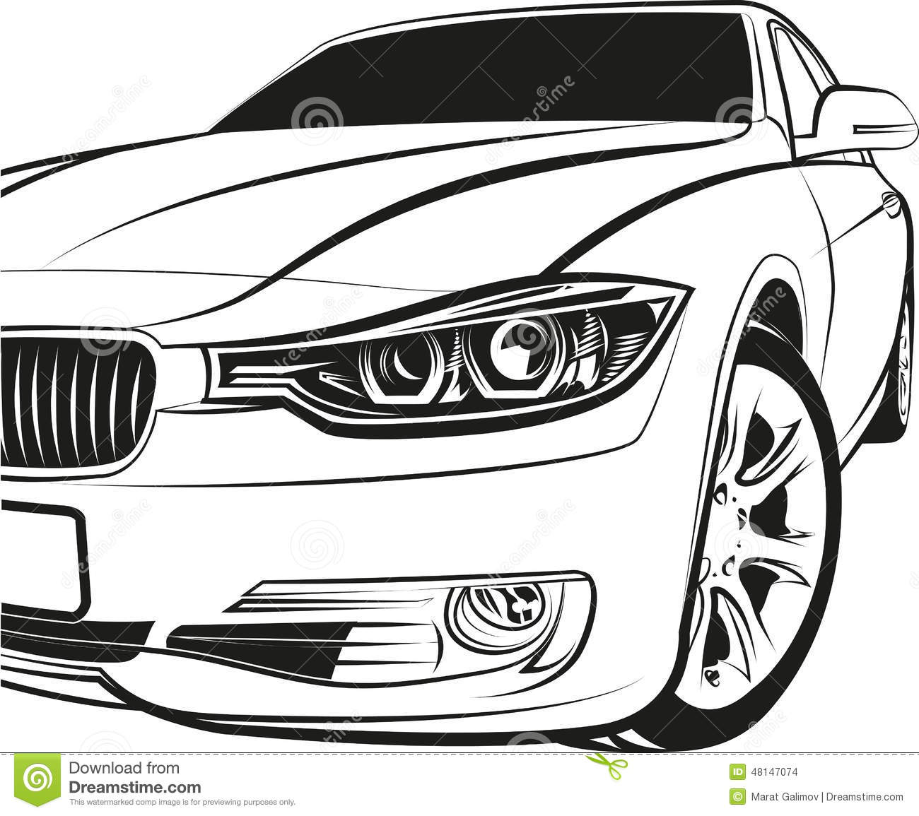 Car Coupe Stock Vector Illustration Of Over Illustration
