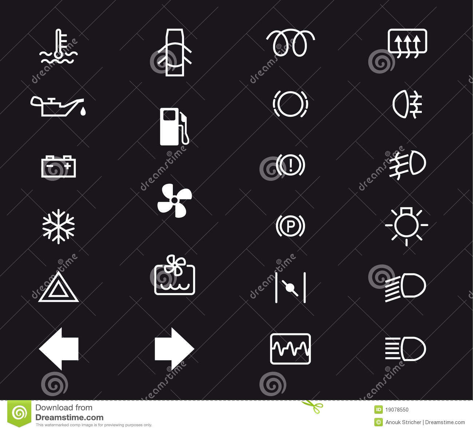 Car Light Symbols