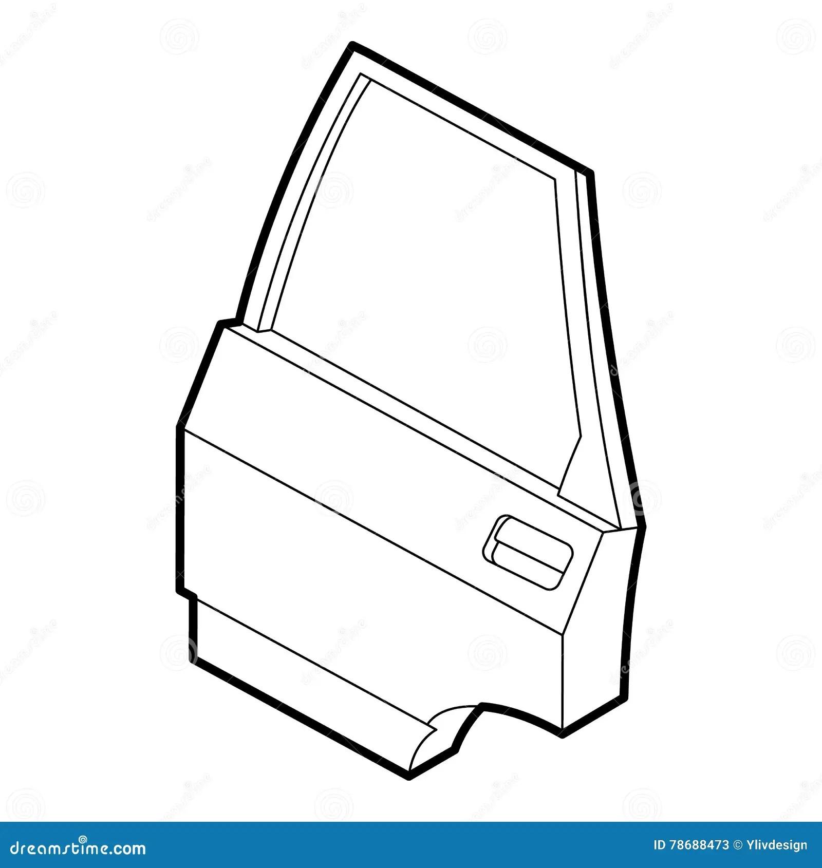 Car Door Icon Outline Style Stock Vector