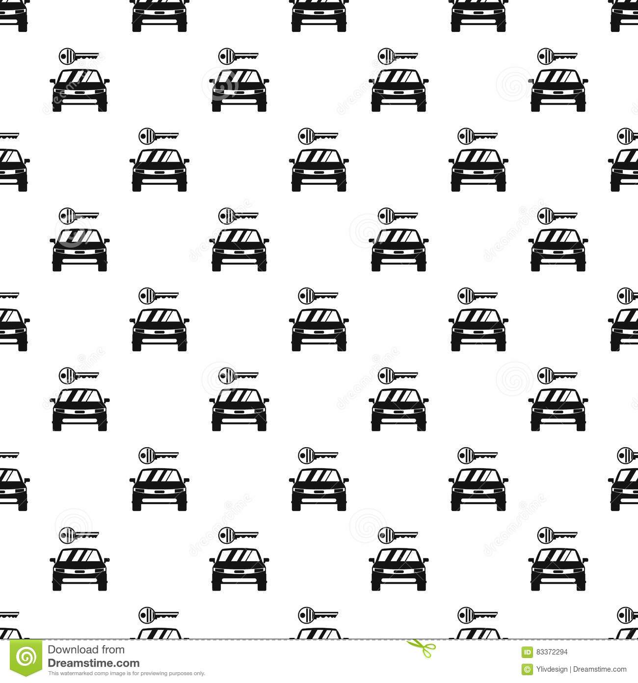 Car From Impound Yard Pattern Simple Style Vector