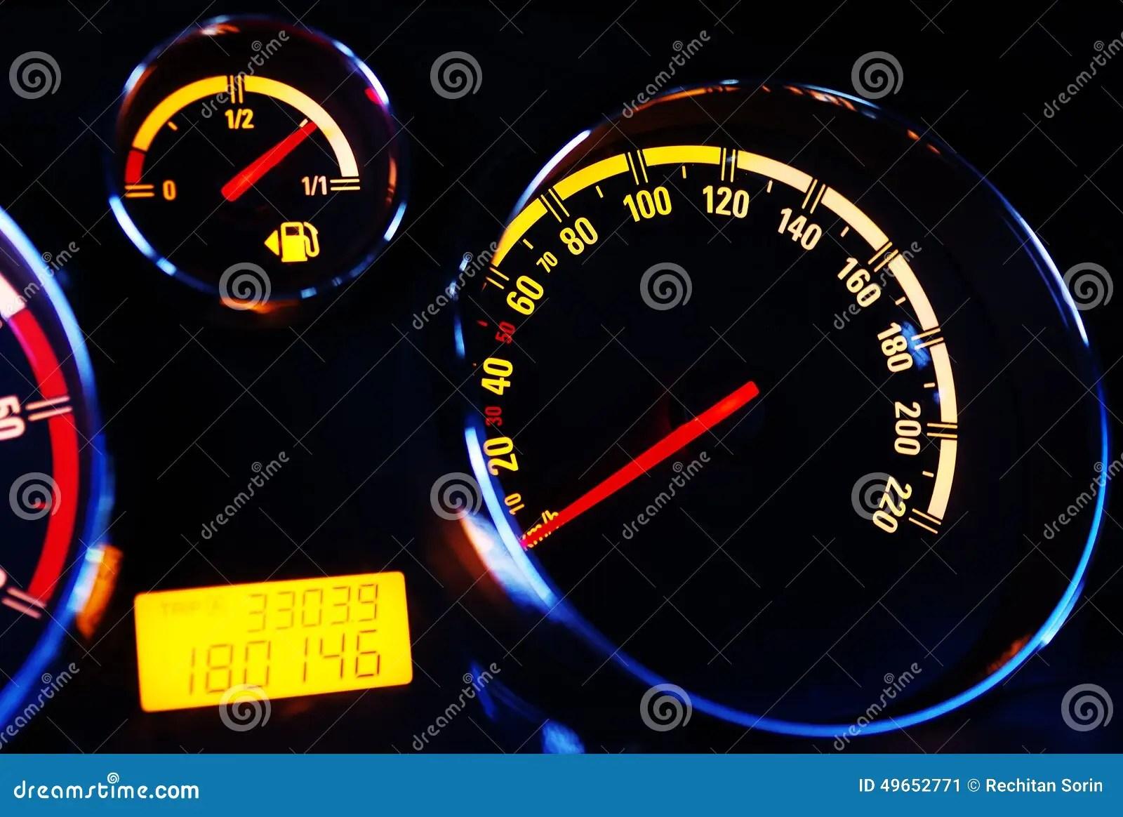 Car Instrument Panel Stock Image Image Of Illustration