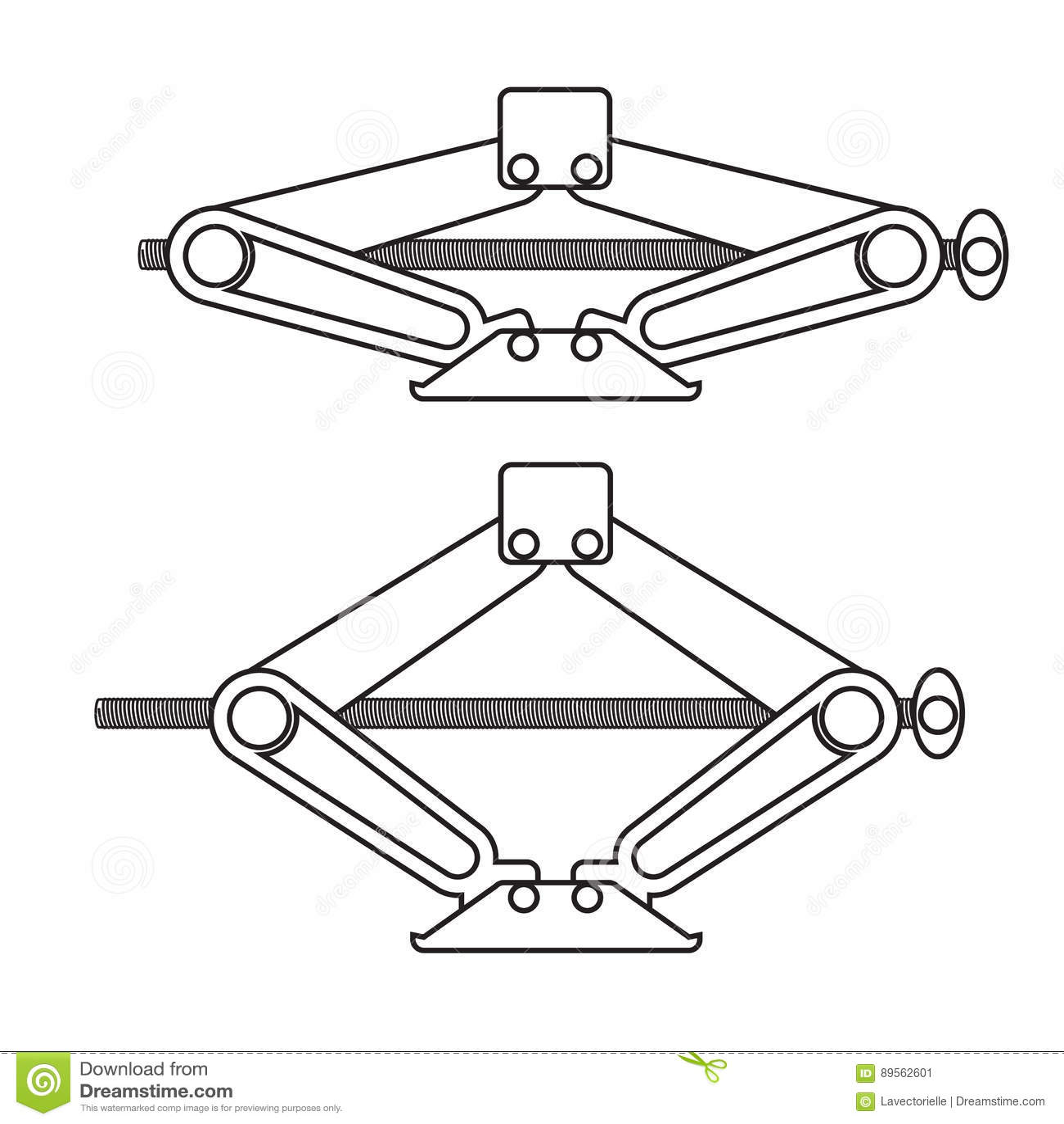 Car Jack Stock Vector Illustration Of Lift Floor Heavy